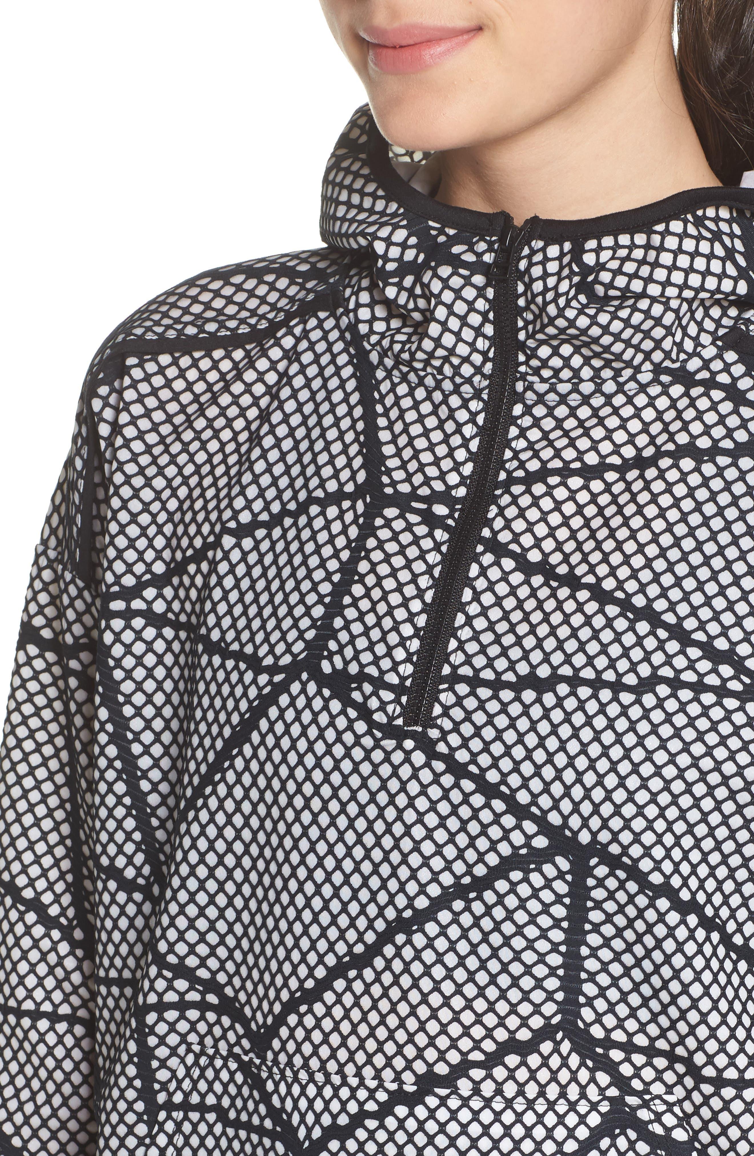 Chromatic Hoodie Pullover,                             Alternate thumbnail 4, color,                             Black-White Chromatic