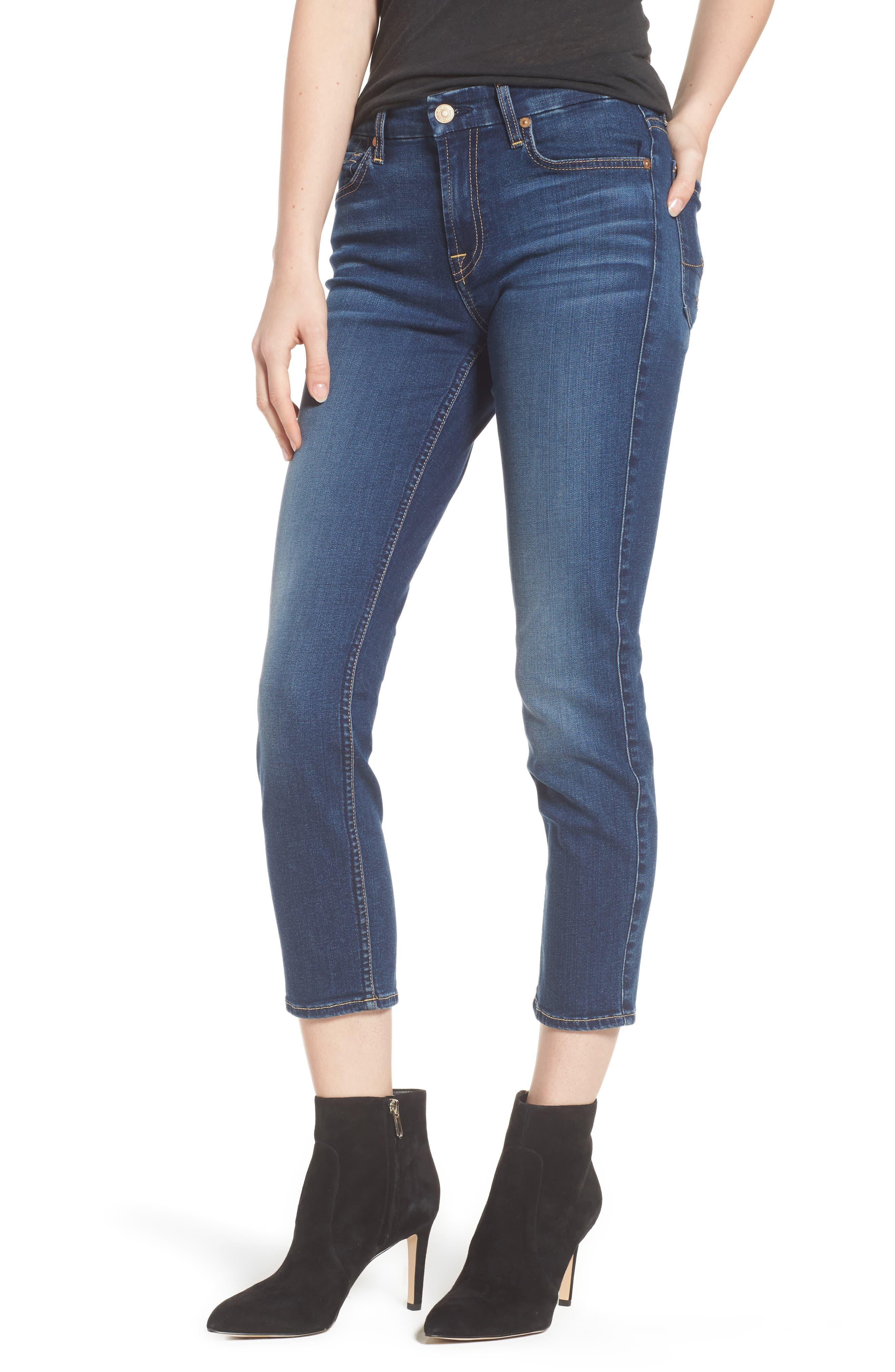 Main Image - 7 For All Mankind® b(air) - Kimmie Crop Straight Leg Jeans (Bair Duchess)