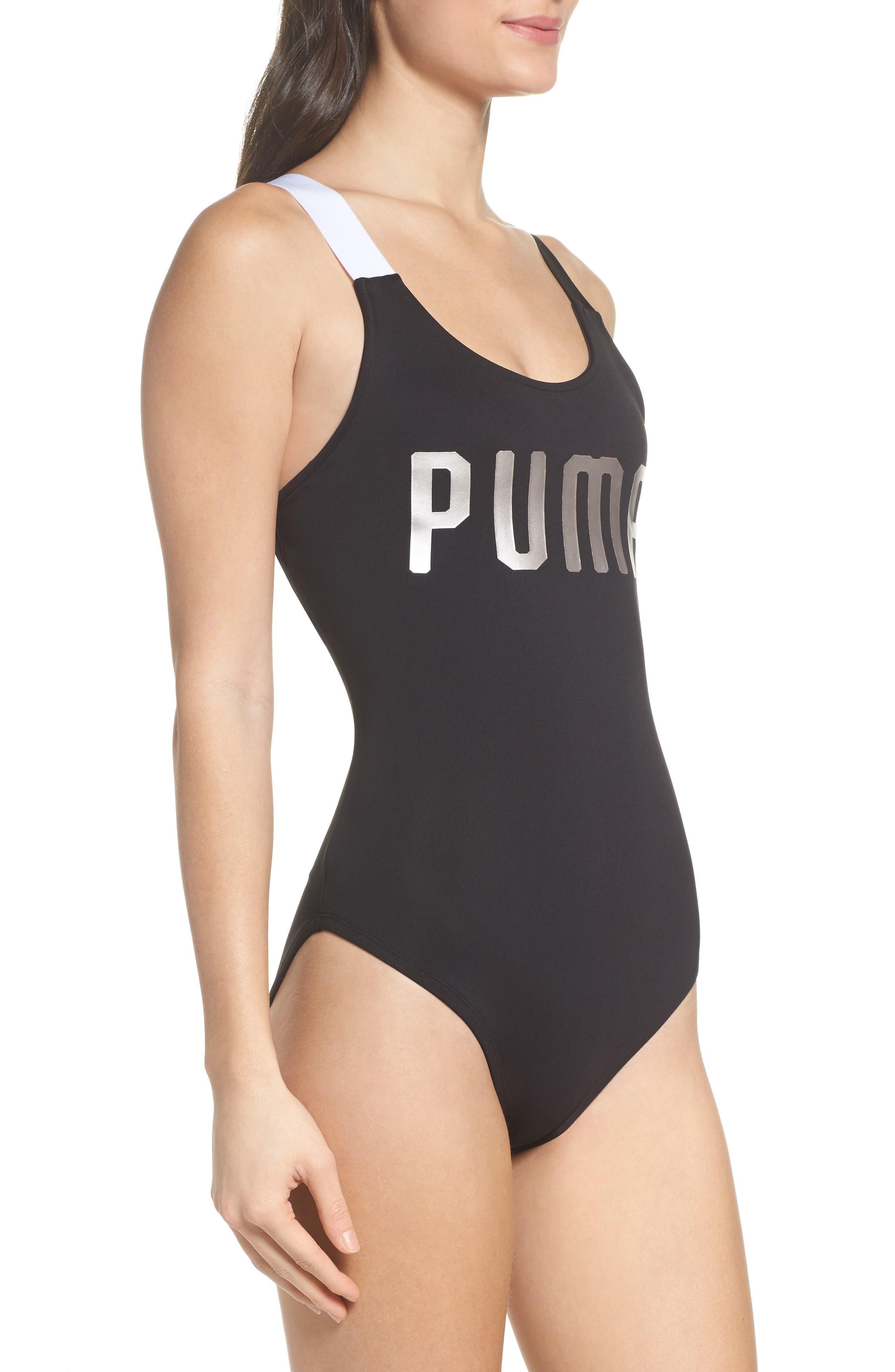 En Point Bodysuit,                             Alternate thumbnail 3, color,                             Puma Black