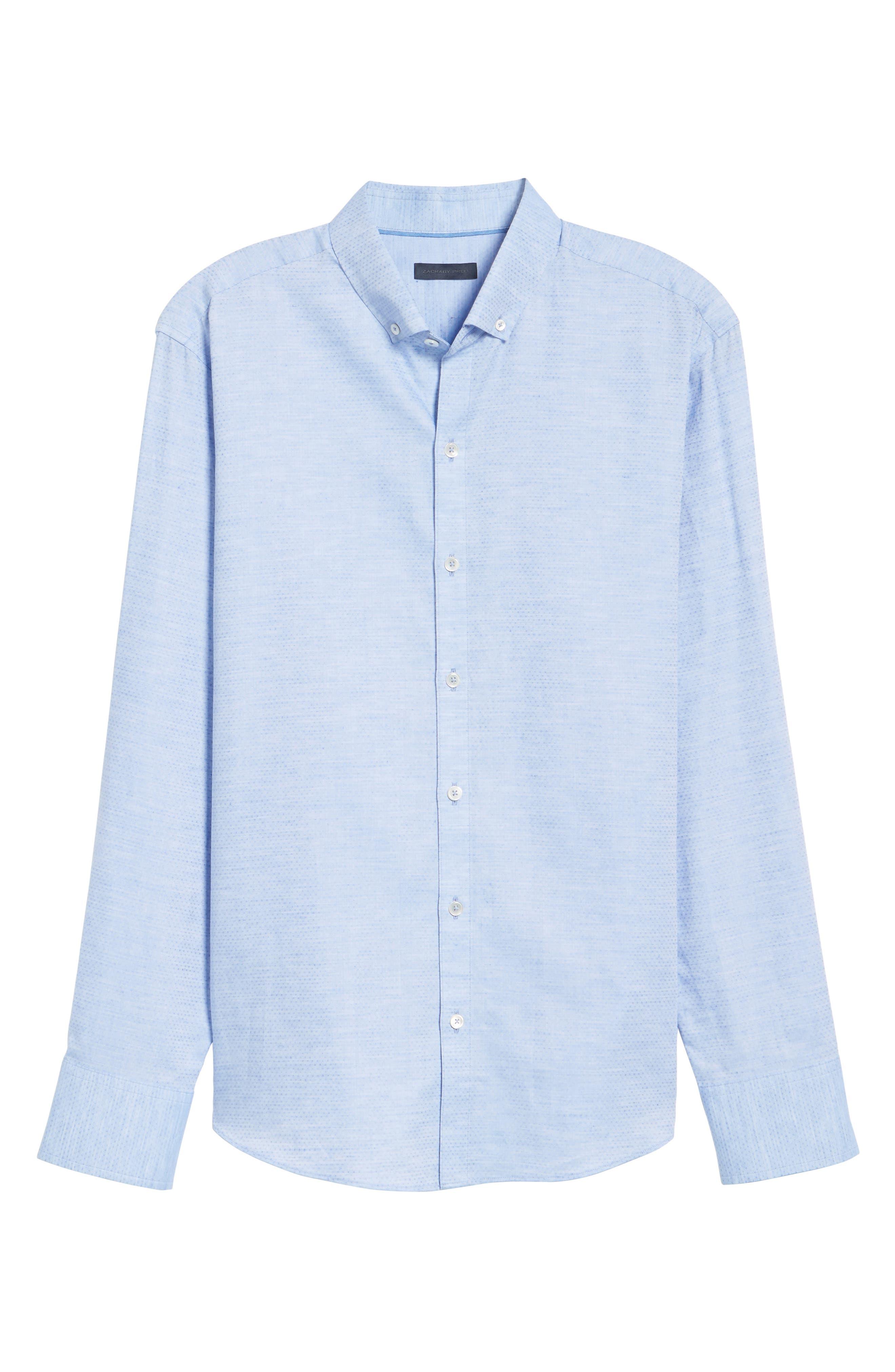 Gomis Regular Fit Dobby Sport Shirt,                             Alternate thumbnail 6, color,                             Light Blue