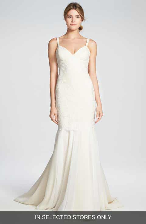 Katie May Monaco Lace Chiffon Trumpet Gown