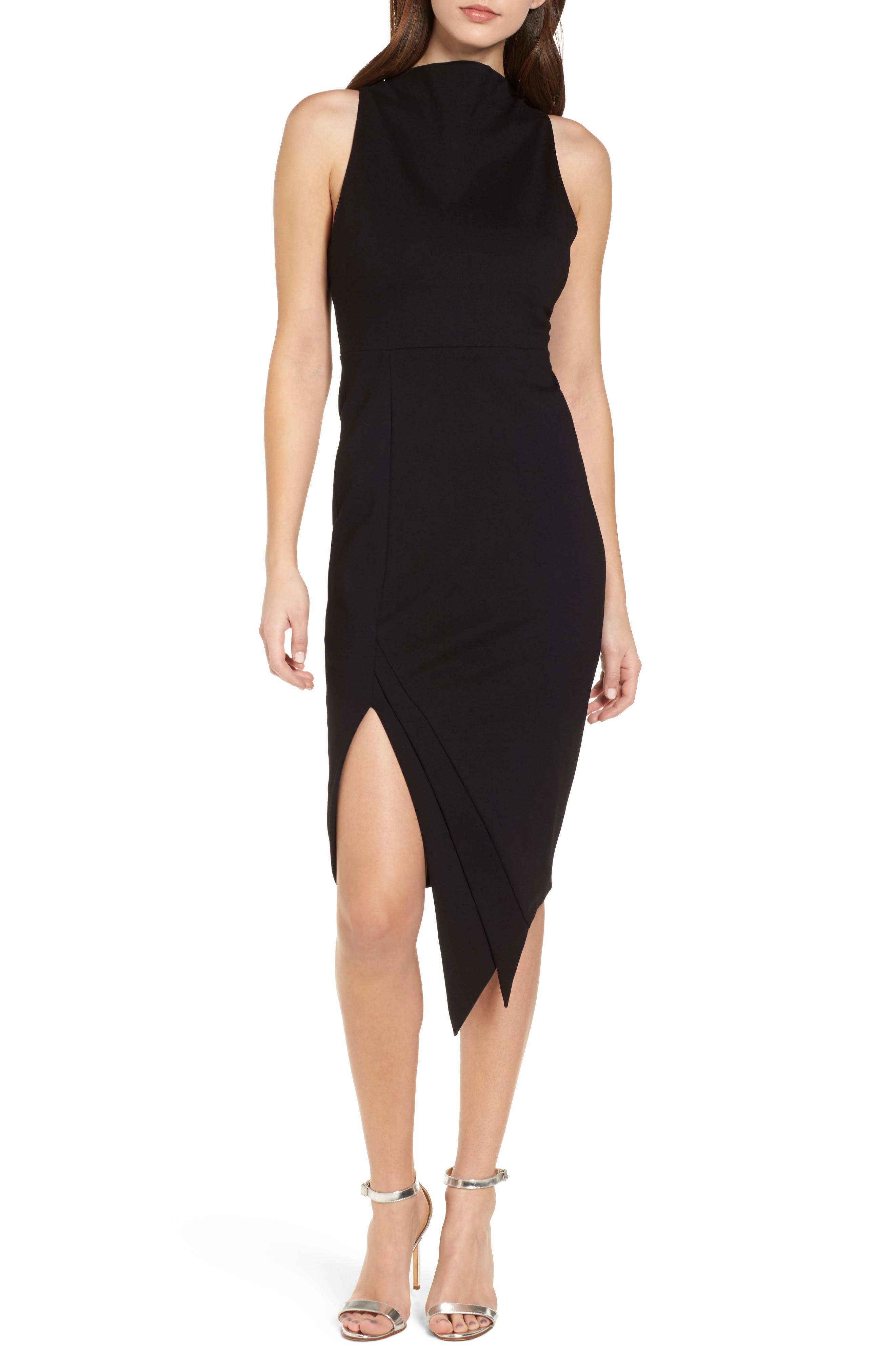Carmen Sheath Dress,                             Main thumbnail 1, color,                             Black