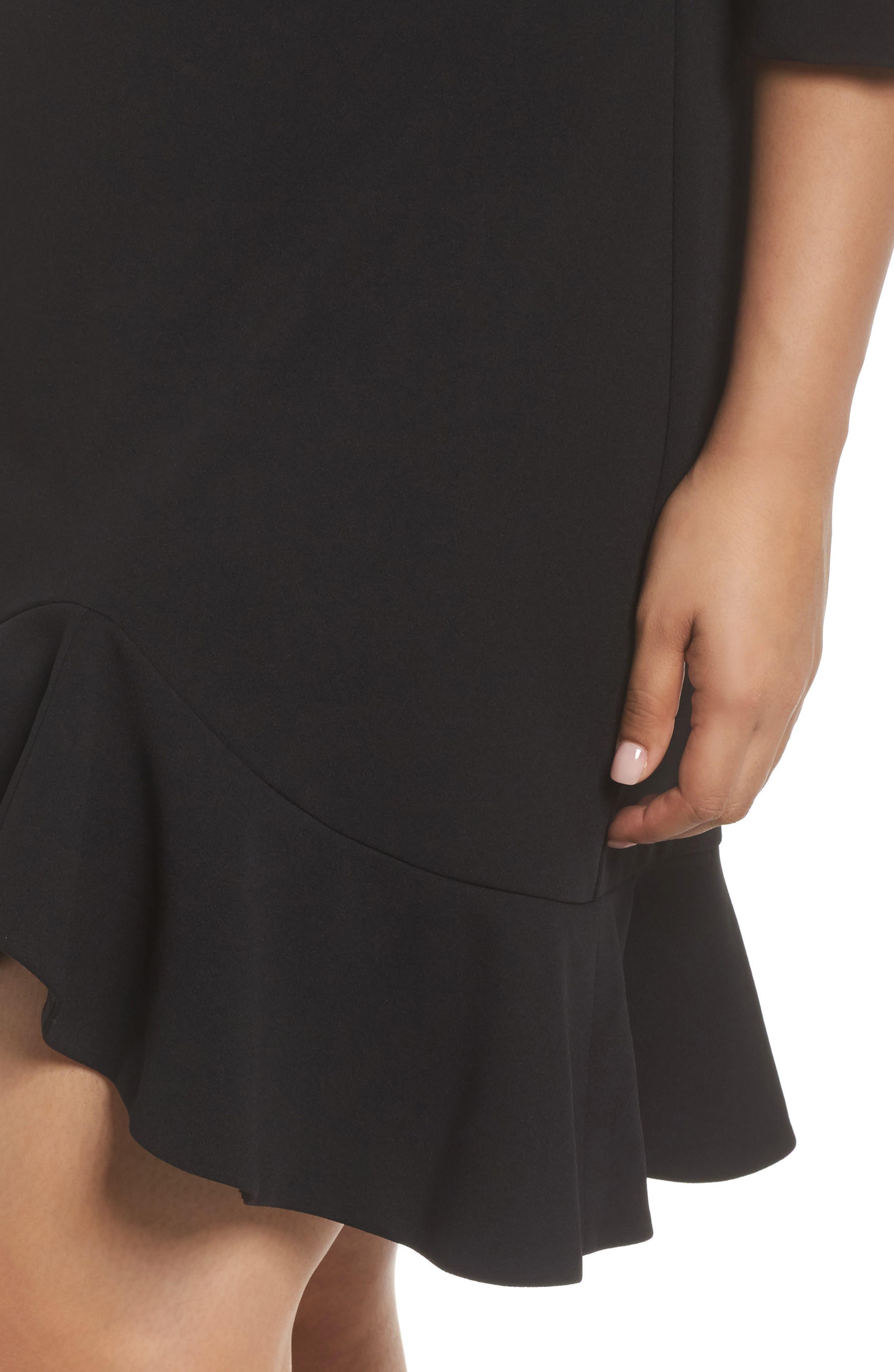 Alternate Image 4  - Vince Camuto Scuba Crepe Sheath Dress (Plus Size)