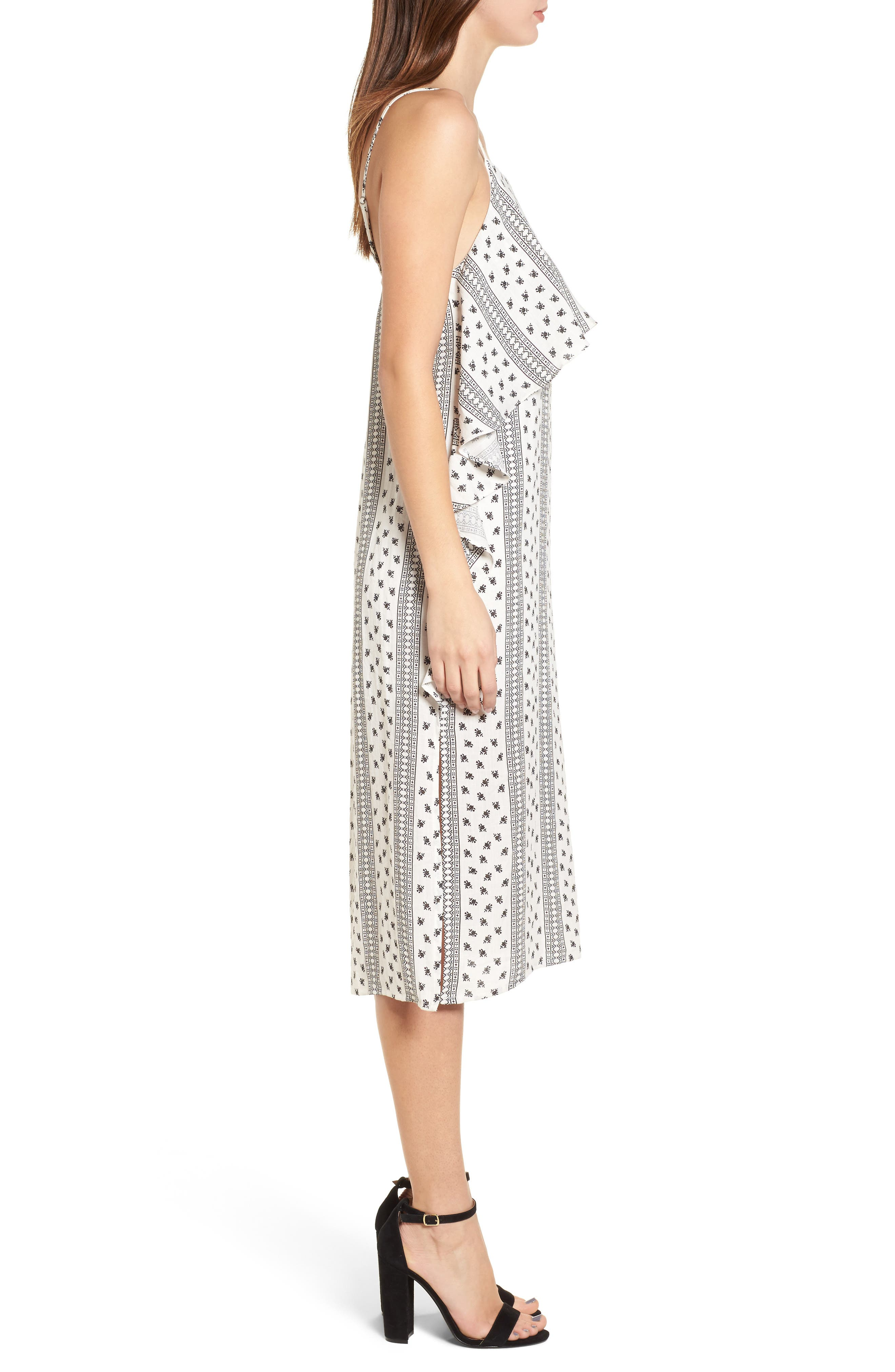 Valerie Popover Dress,                             Alternate thumbnail 5, color,                             Ivory