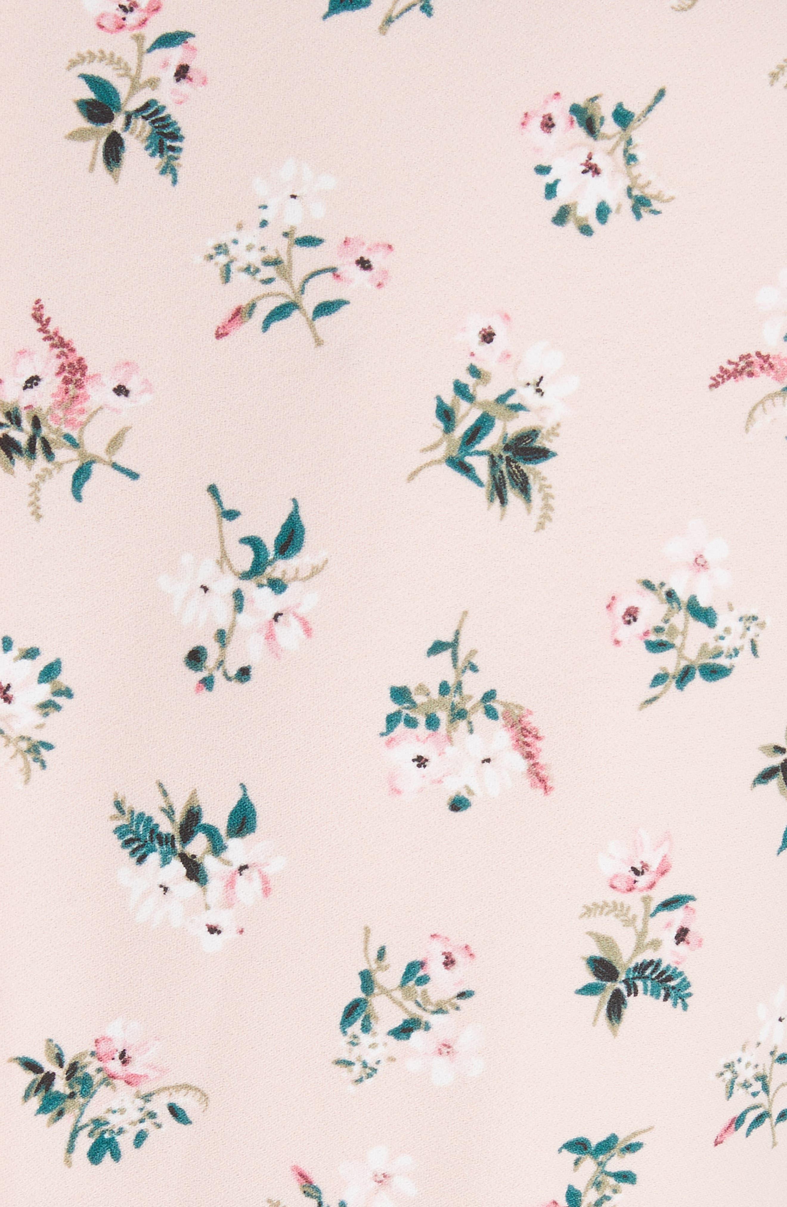 flora tulip sleeve dress,                             Alternate thumbnail 5, color,                             Cameo Pink