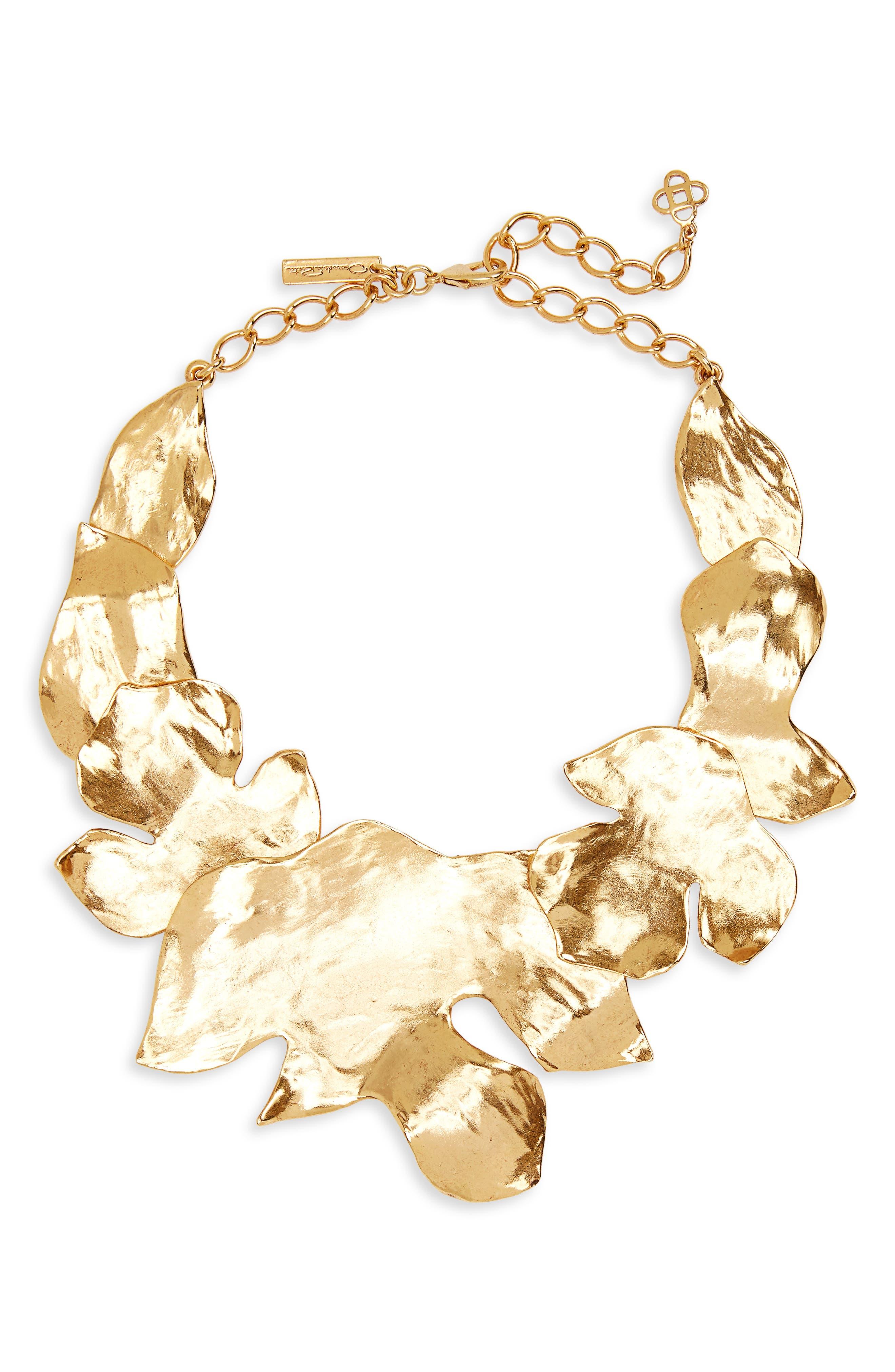 Oscar de la Renta Foliage Collar Necklace