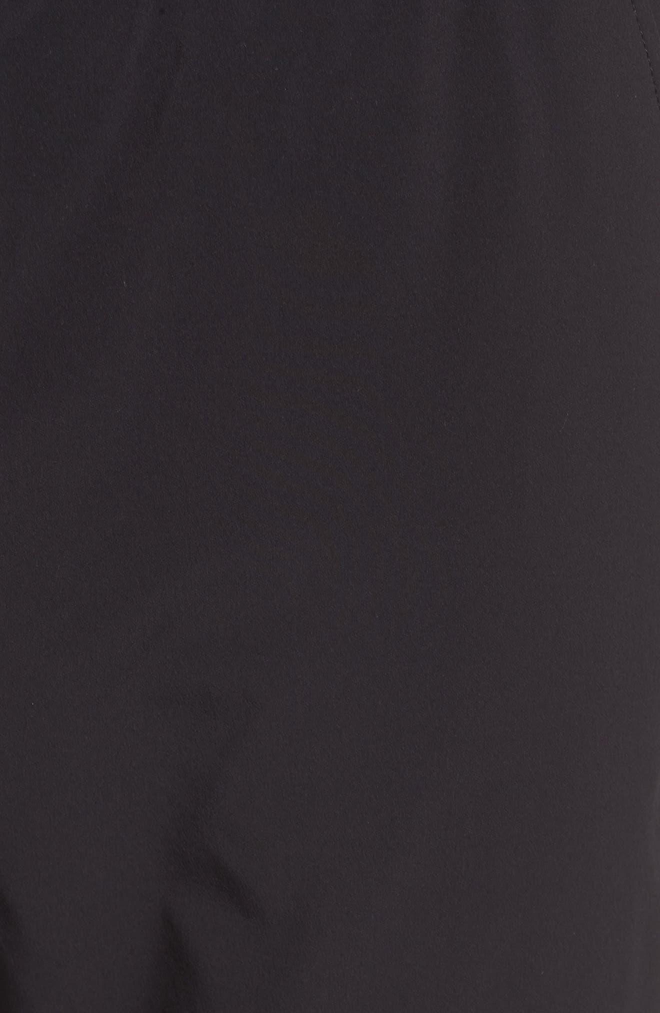 Graphite Tapered Athletic Pants,                             Alternate thumbnail 5, color,                             Black