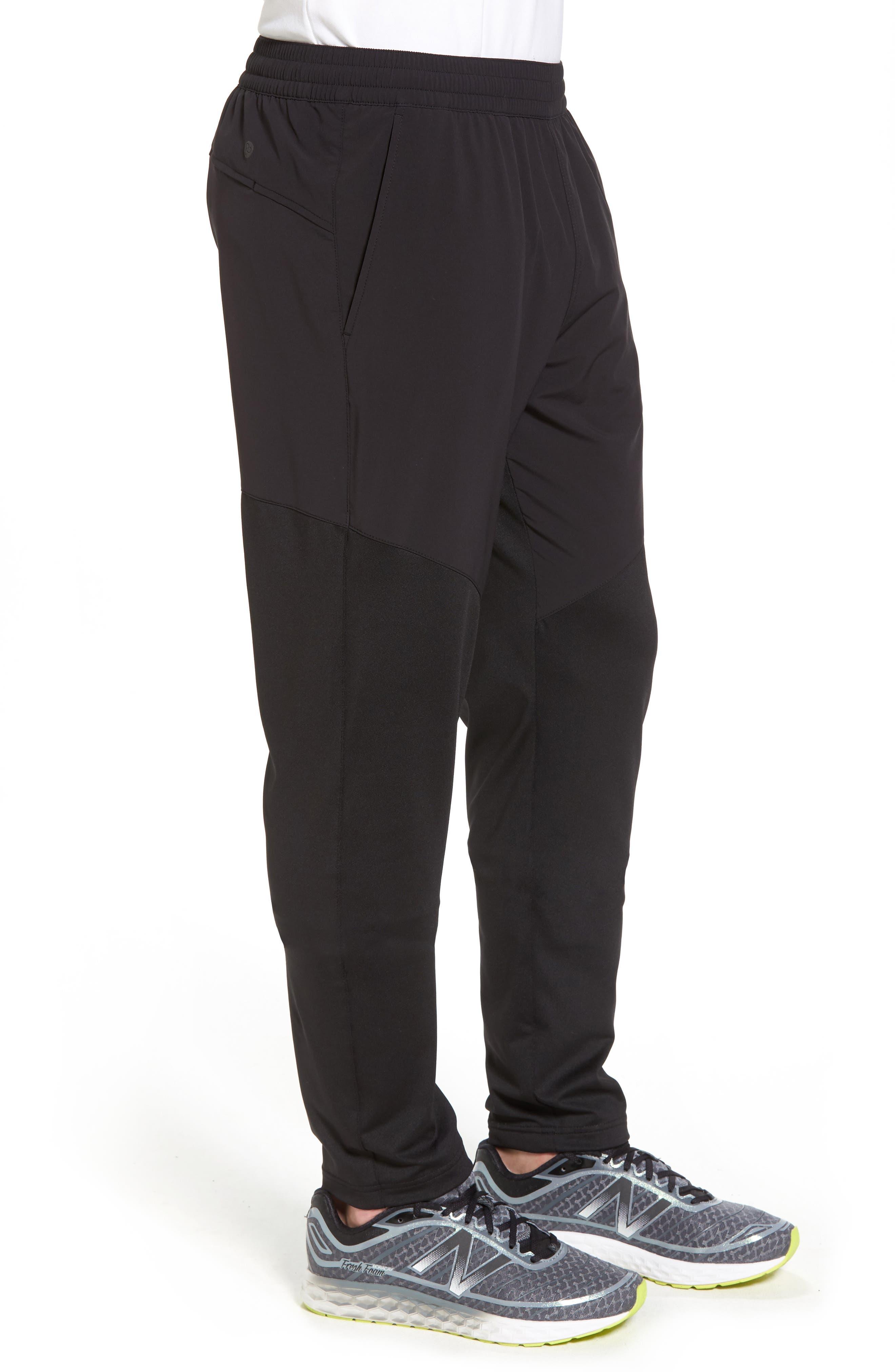 Graphite Tapered Athletic Pants,                             Alternate thumbnail 3, color,                             Black
