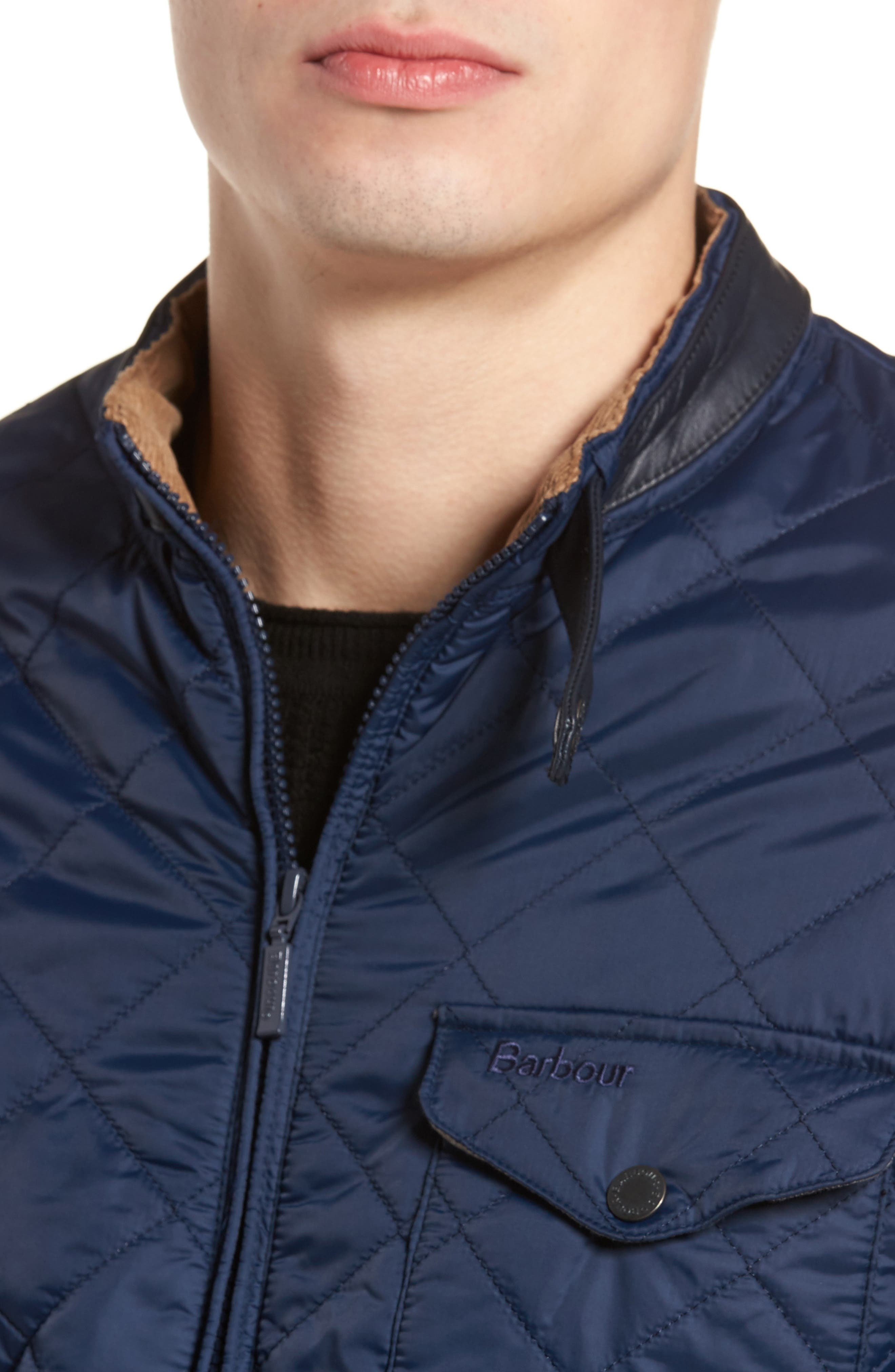 Ard Quilted Jacket,                             Alternate thumbnail 3, color,                             Royal Navy
