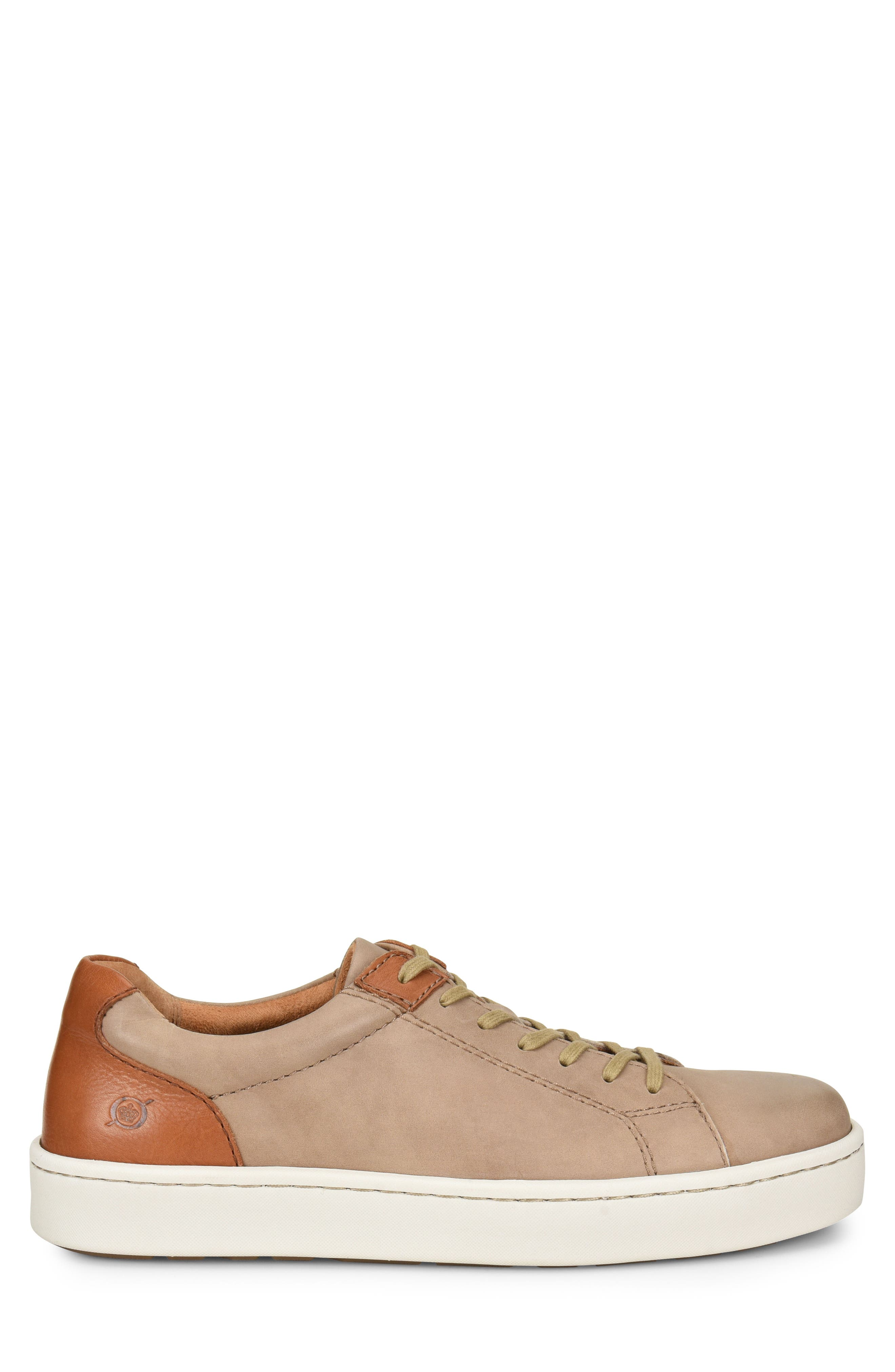 Jib Sneaker,                             Alternate thumbnail 3, color,                             Taupe/ Brown Leather