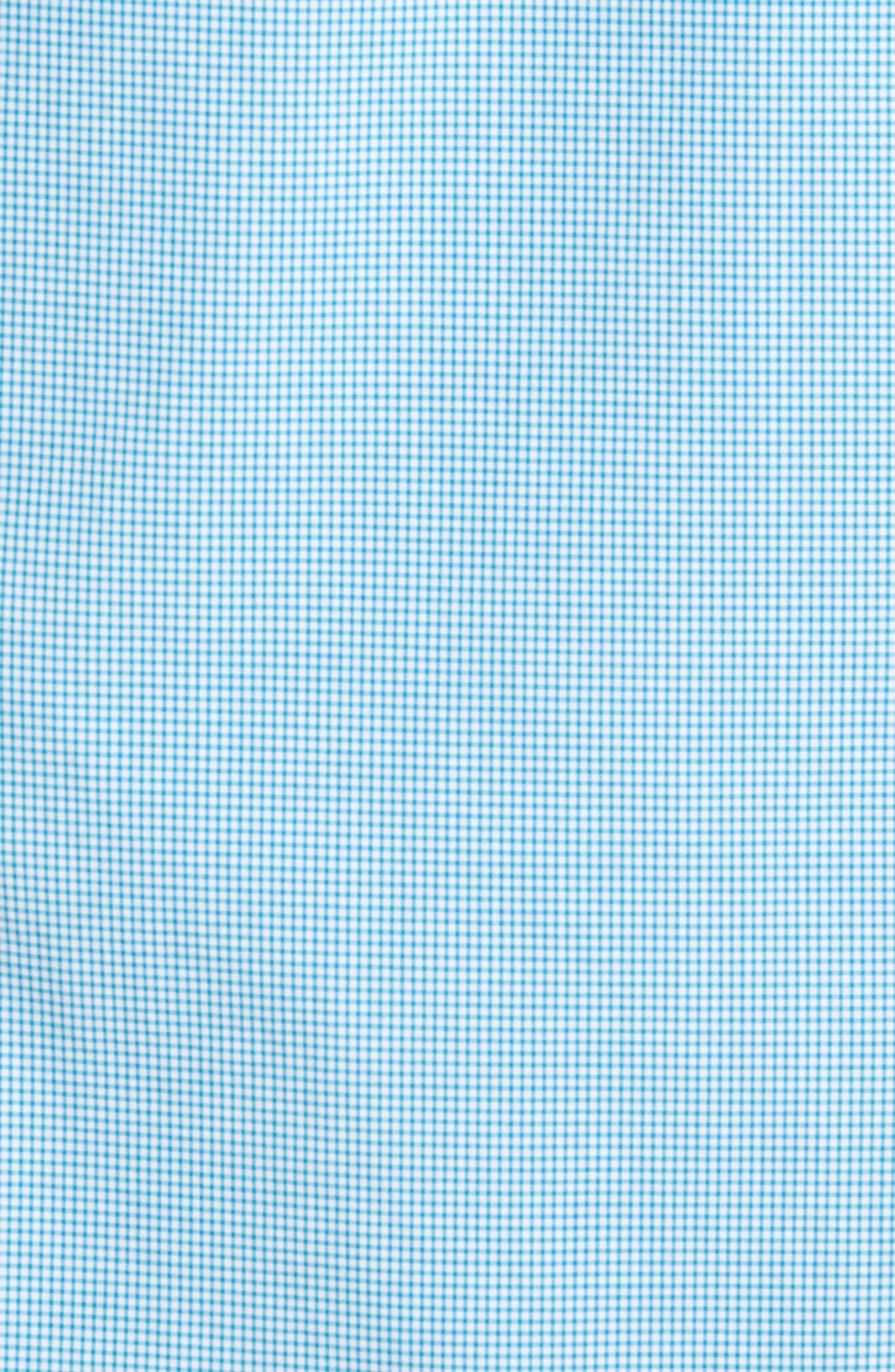 Triston Regular Fit Check Sport Shirt,                             Alternate thumbnail 5, color,                             Turquoise