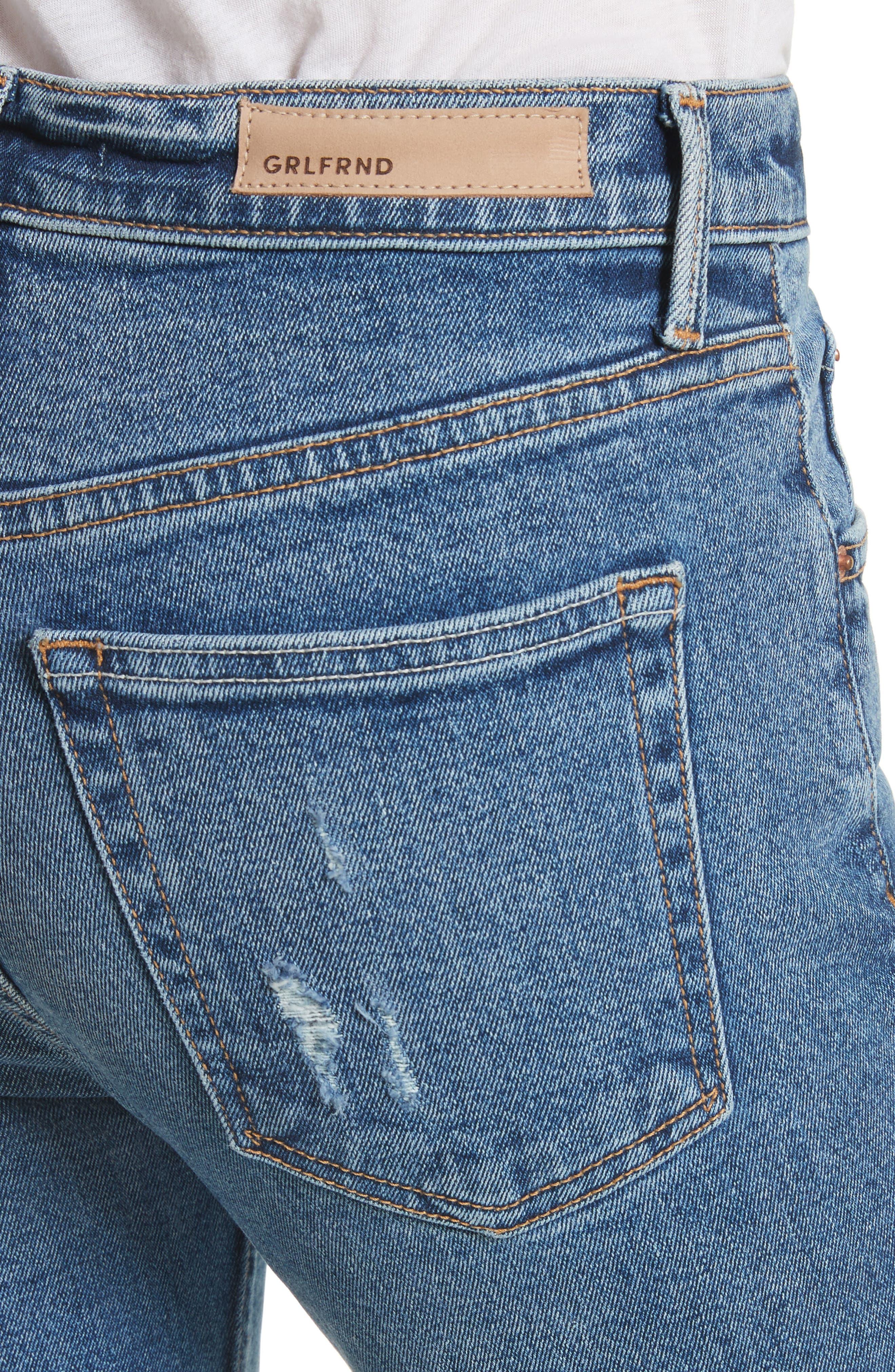 Karolina High Waist Skinny Jeans,                             Alternate thumbnail 4, color,                             Sixpence