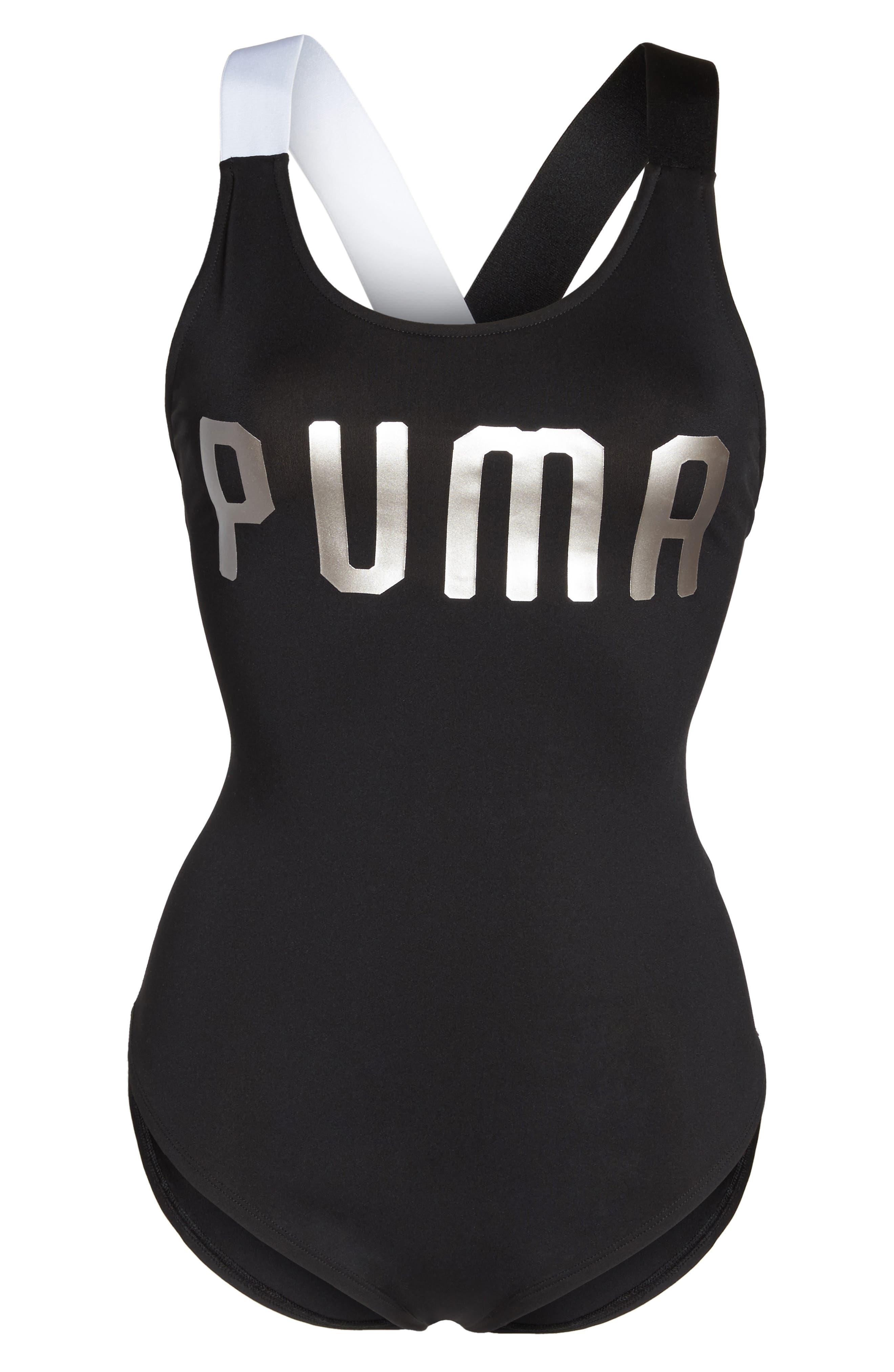 En Point Bodysuit,                             Alternate thumbnail 7, color,                             Puma Black