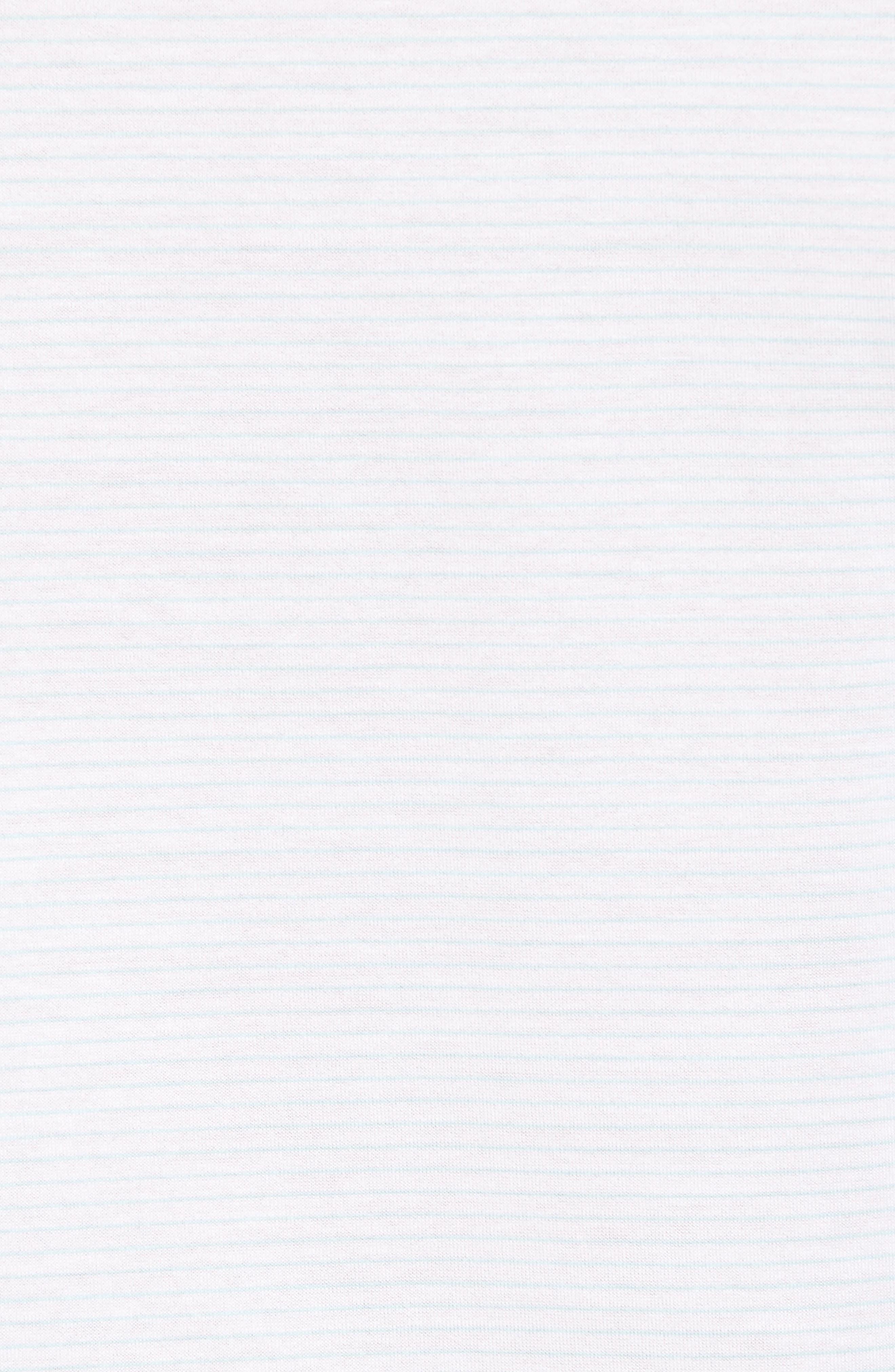 Sean Heritage Stripe Nanoluxe Polo,                             Alternate thumbnail 5, color,                             White/ Heron Blue
