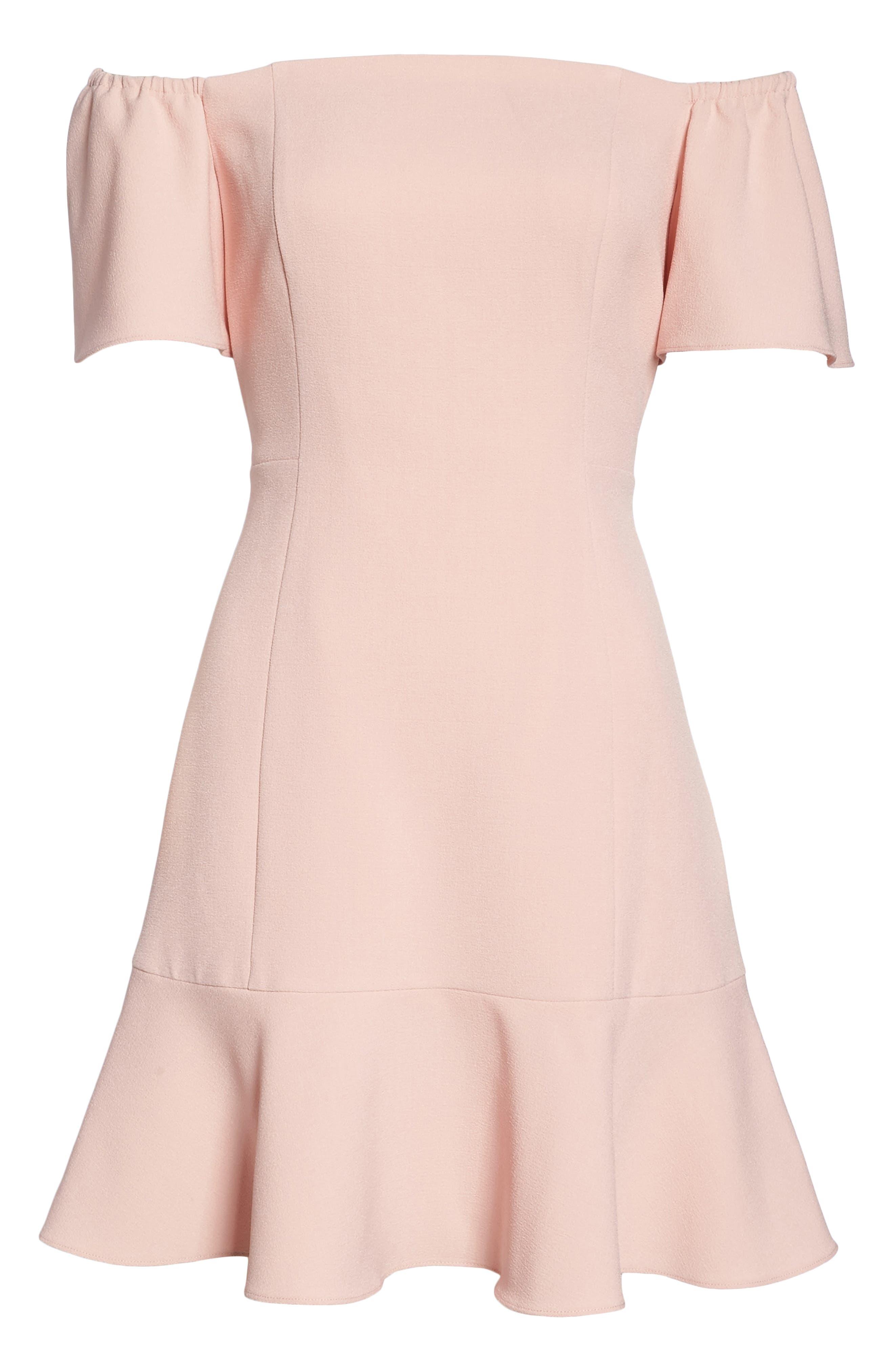 Off the Shoulder Dress,                             Alternate thumbnail 6, color,                             Blush