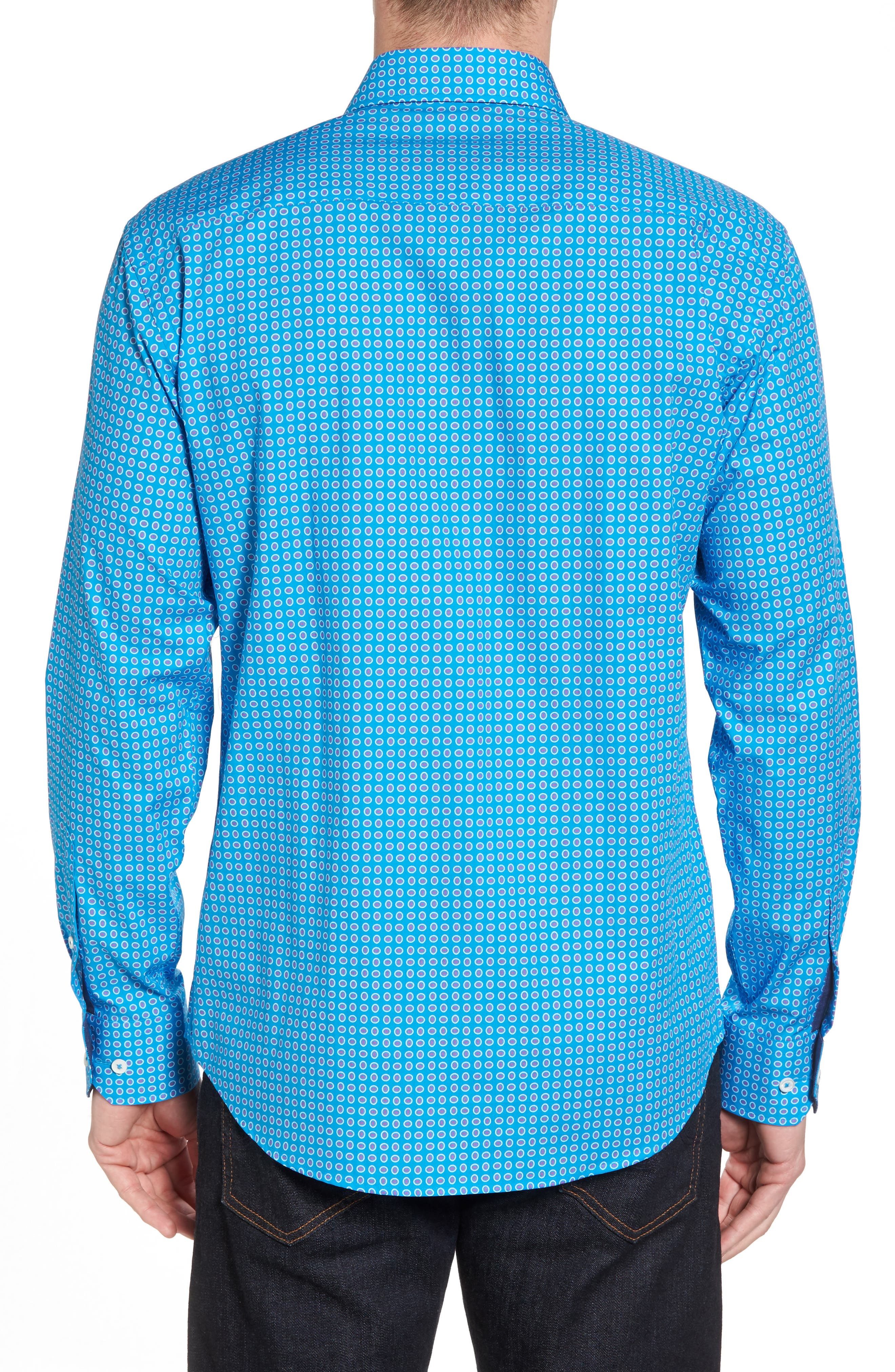 Woven Sport Shirt,                             Alternate thumbnail 2, color,                             Turquoise