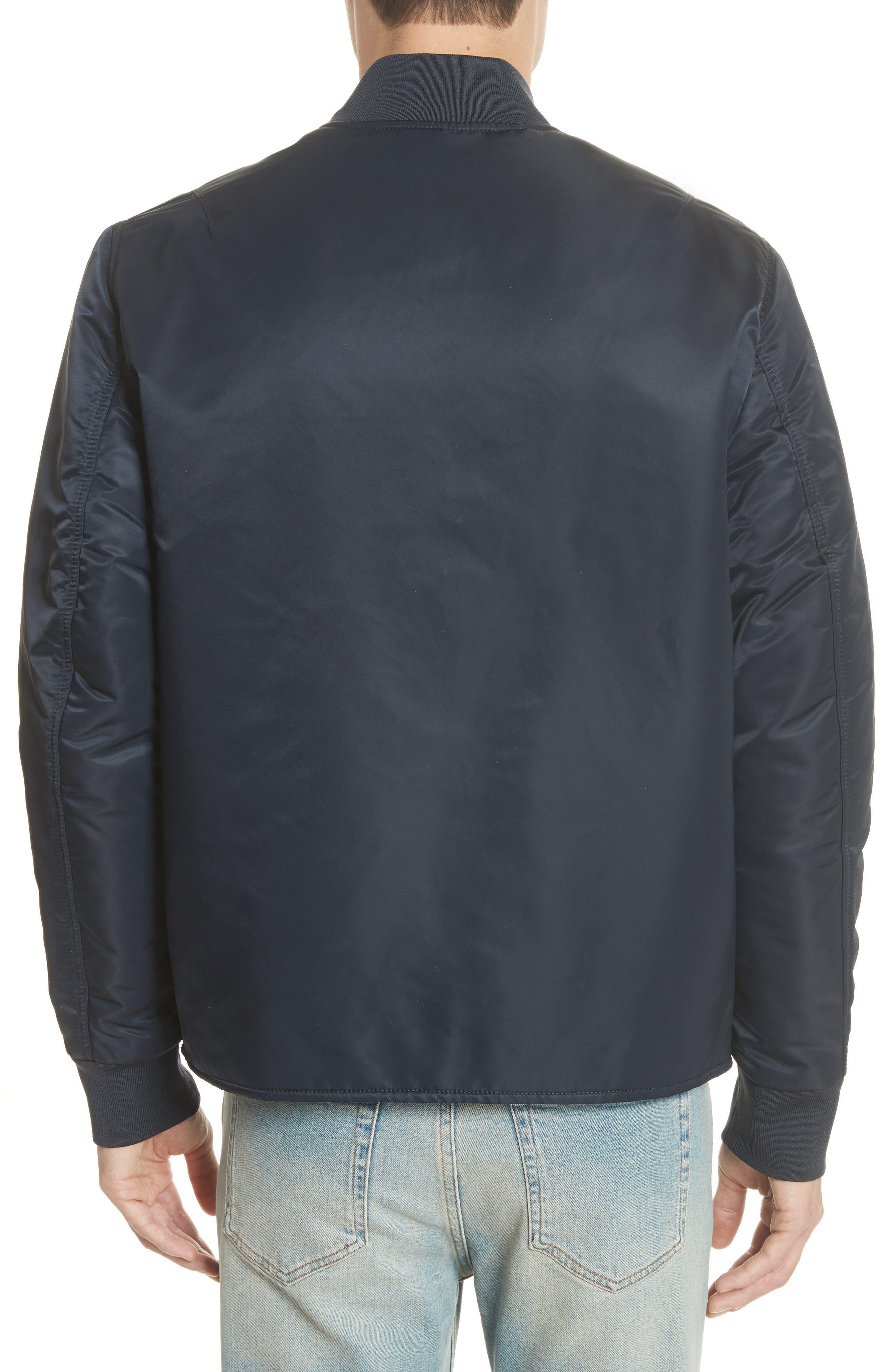 Nylon Bomber Jacket,                             Alternate thumbnail 2, color,                             Midnight Blue
