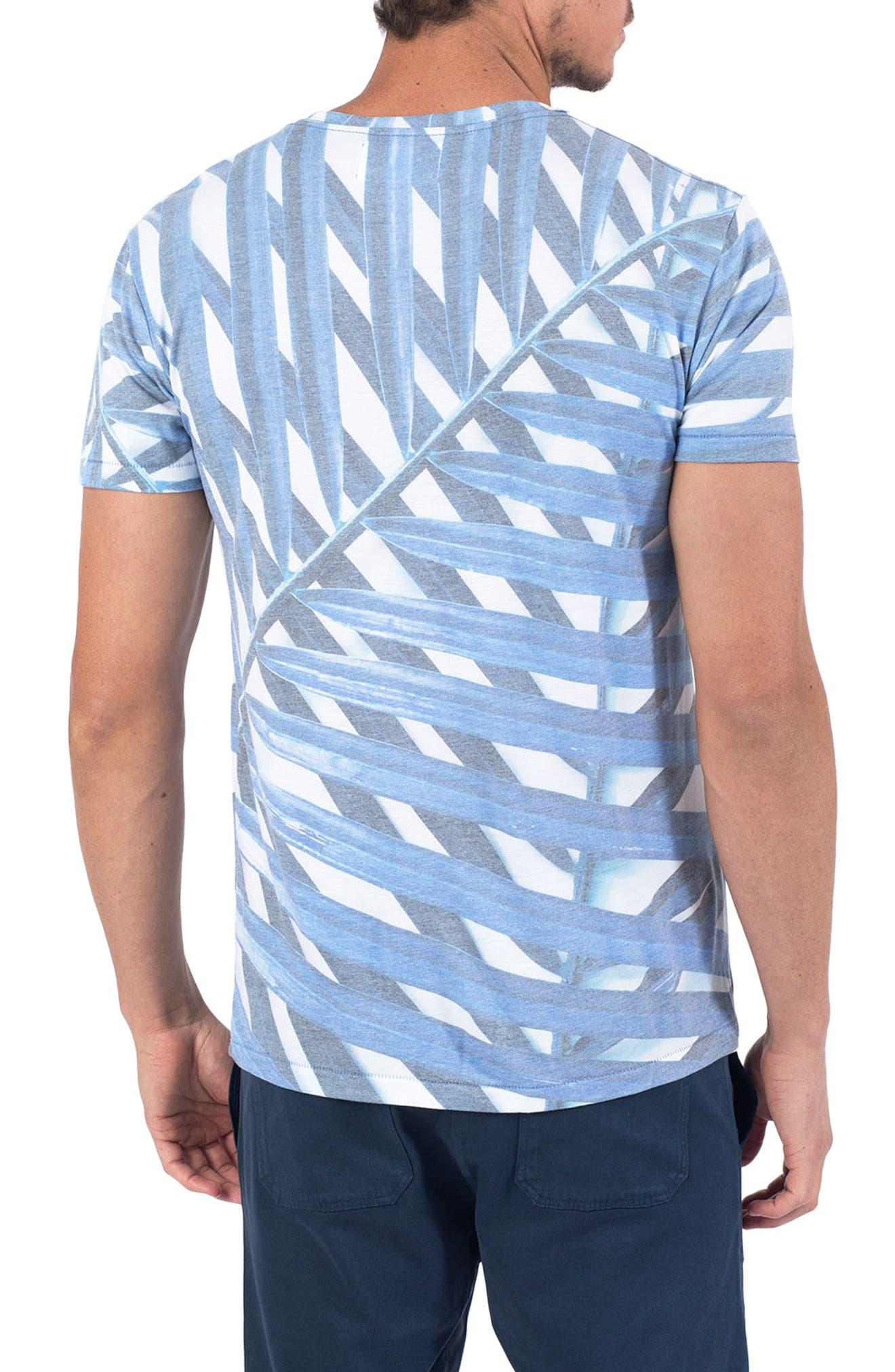 Azul Palm Print T-Shirt,                             Alternate thumbnail 2, color,                             Azul