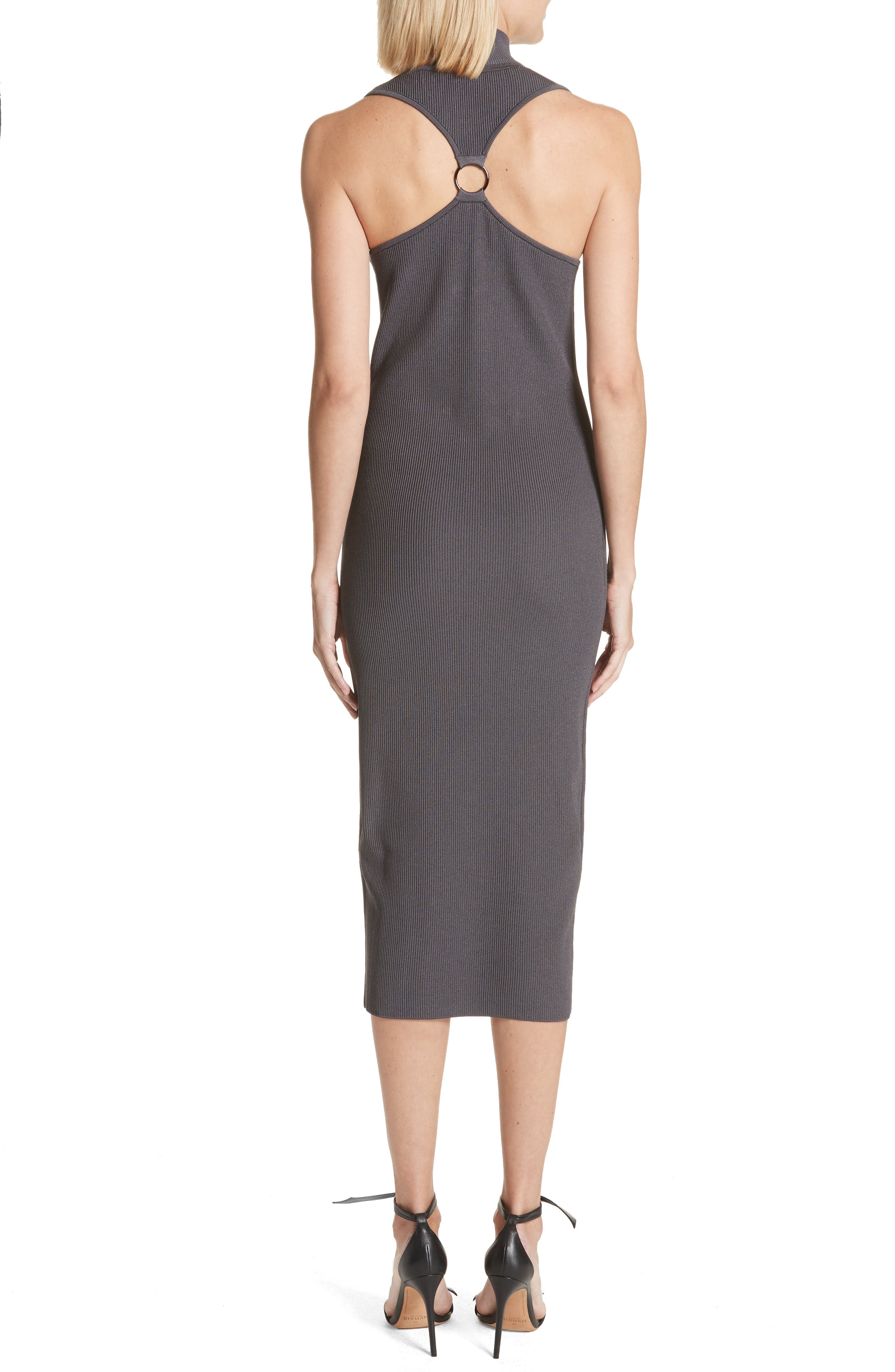 Alsia Cutout Knit Dress,                             Alternate thumbnail 2, color,                             Graphite/ Gunmetal