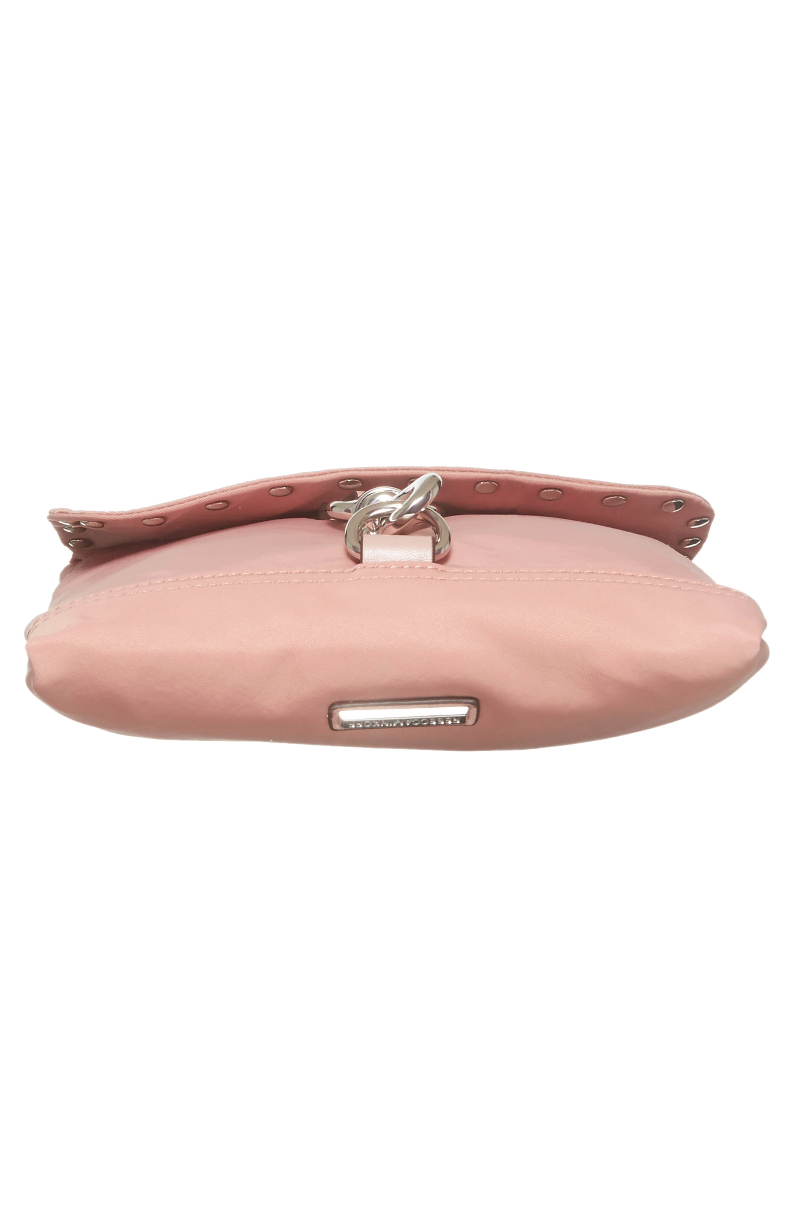 Nylon Flap Crossbody Bag,                             Alternate thumbnail 6, color,                             Vintage Pink
