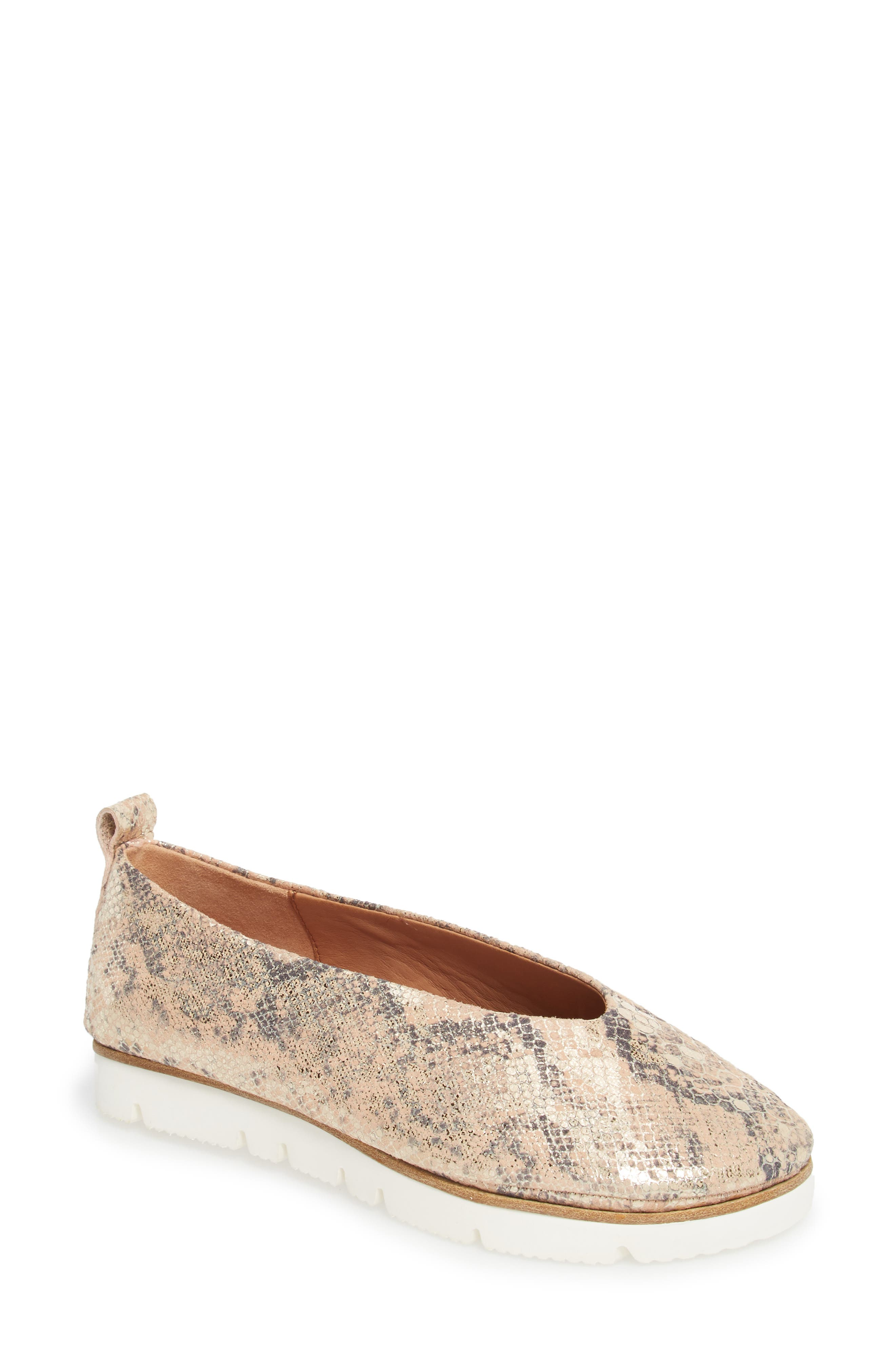 by Kenneth Cole Demi Flat,                             Main thumbnail 1, color,                             Rose Metallic Leather