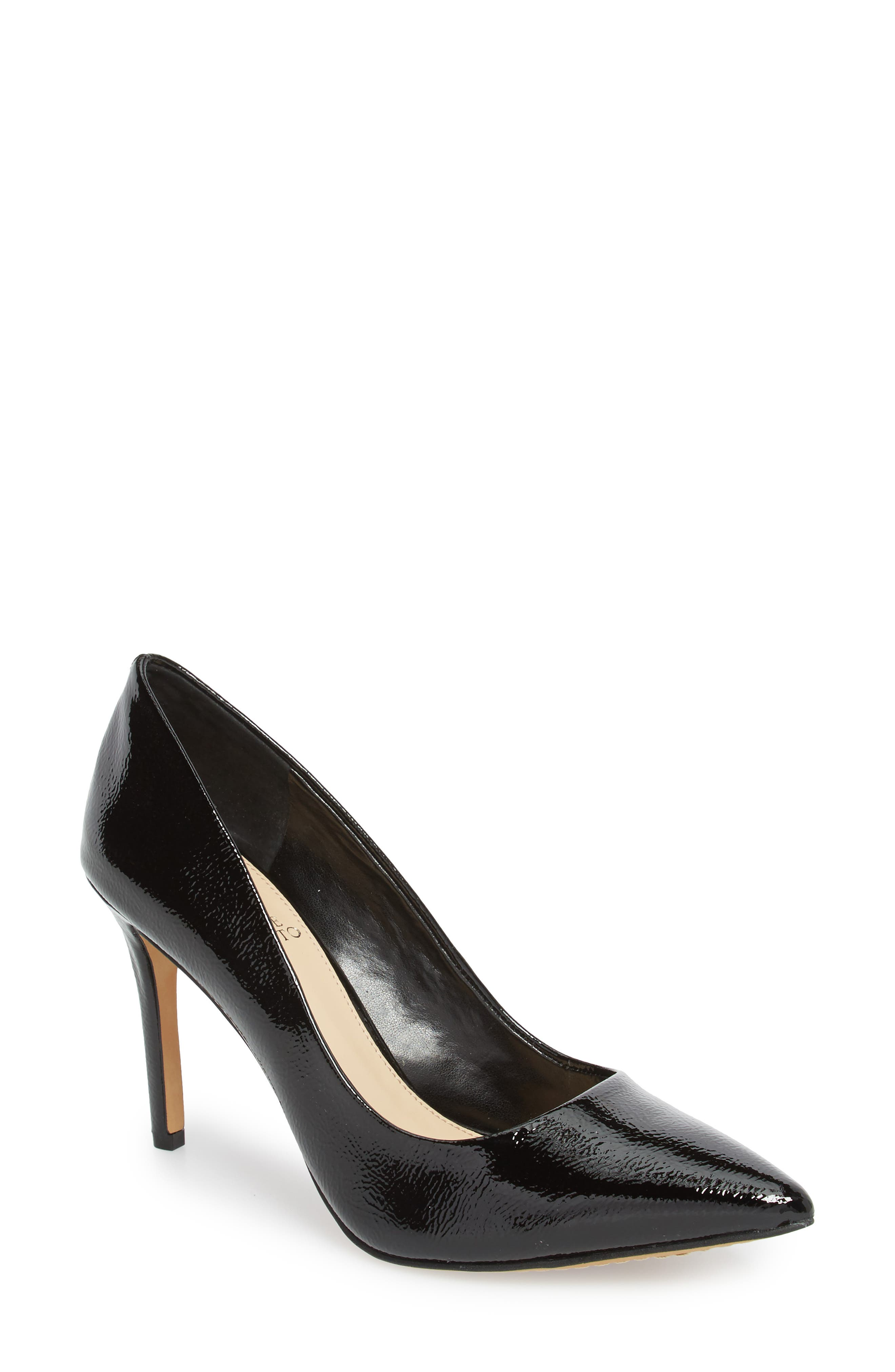 Savilla Pump,                             Main thumbnail 1, color,                             Black Patent