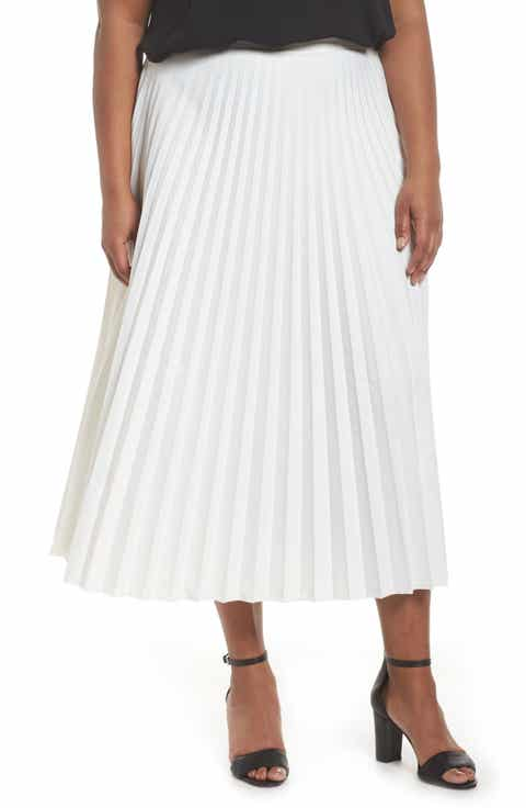 Glamorous Pleated Long Skirt (Plus Size)