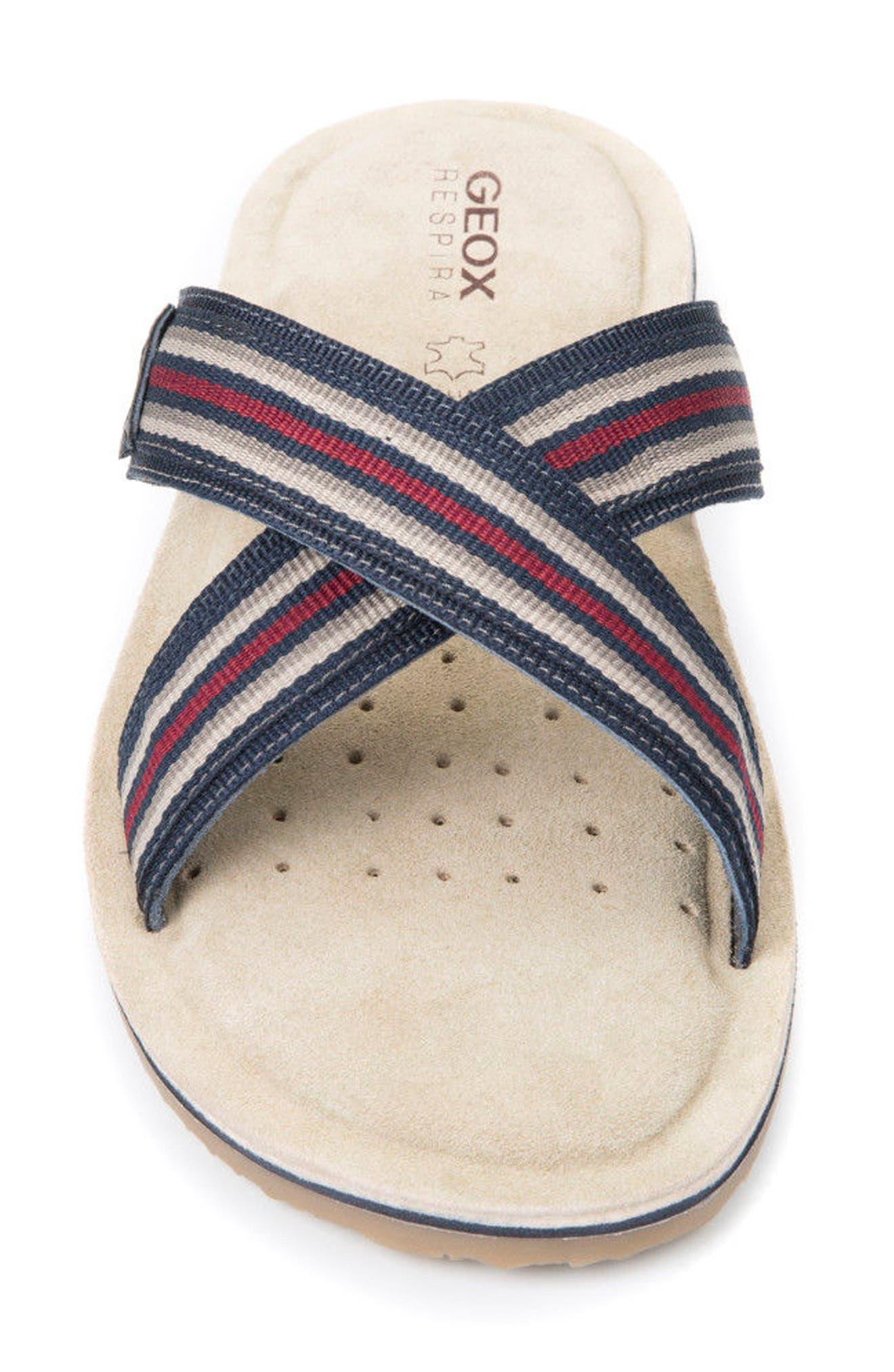 Artie 14 Cross Strap Slide Sandal,                             Alternate thumbnail 4, color,                             Navy