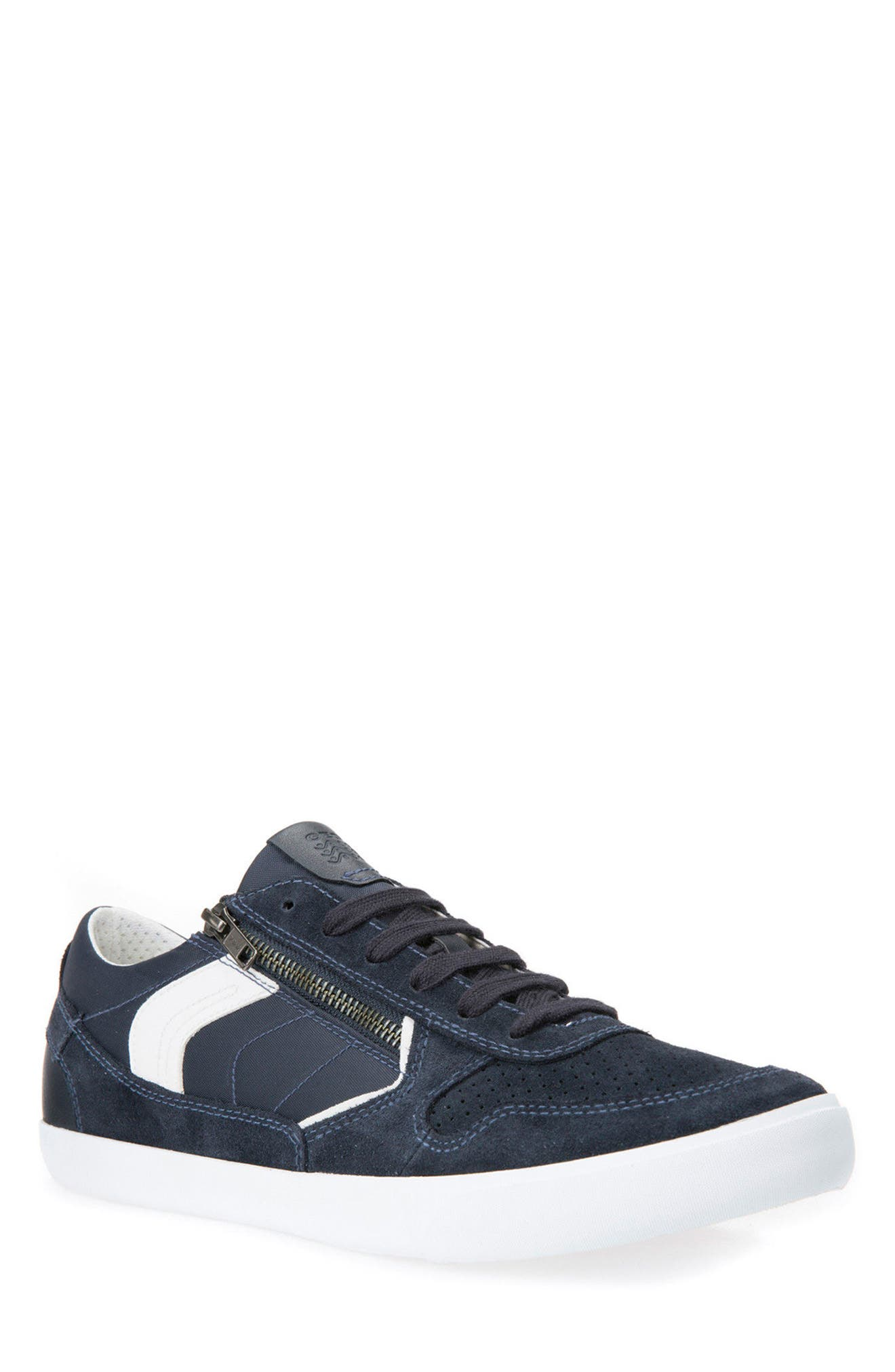 Box 33 Low Top Zip Sneaker,                         Main,                         color, Navy