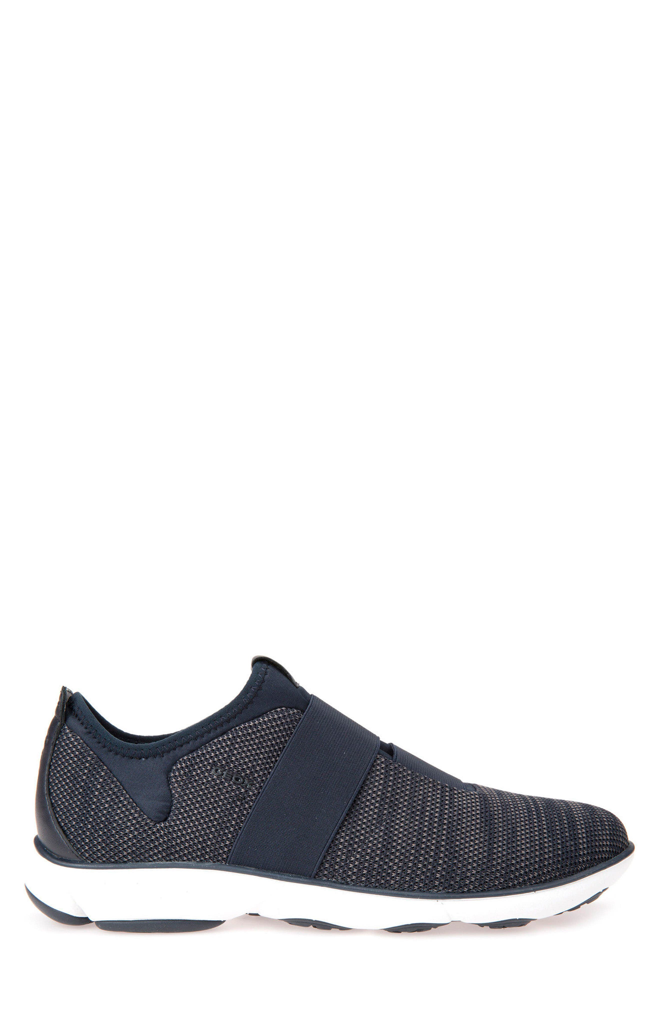 Nebula 45 Banded Slip-On Sneaker,                             Alternate thumbnail 3, color,                             Navy