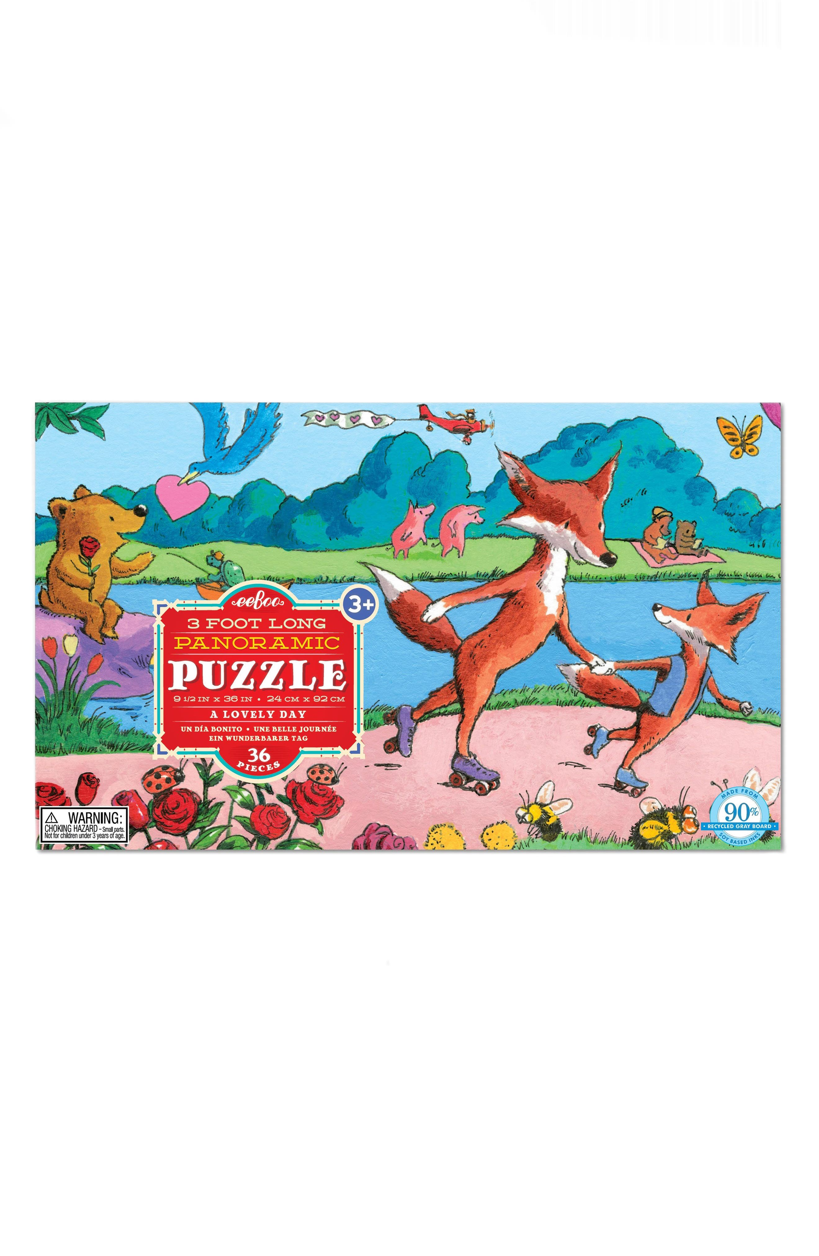 A Lovely Day 36-Piece Puzzle,                         Main,                         color, Red