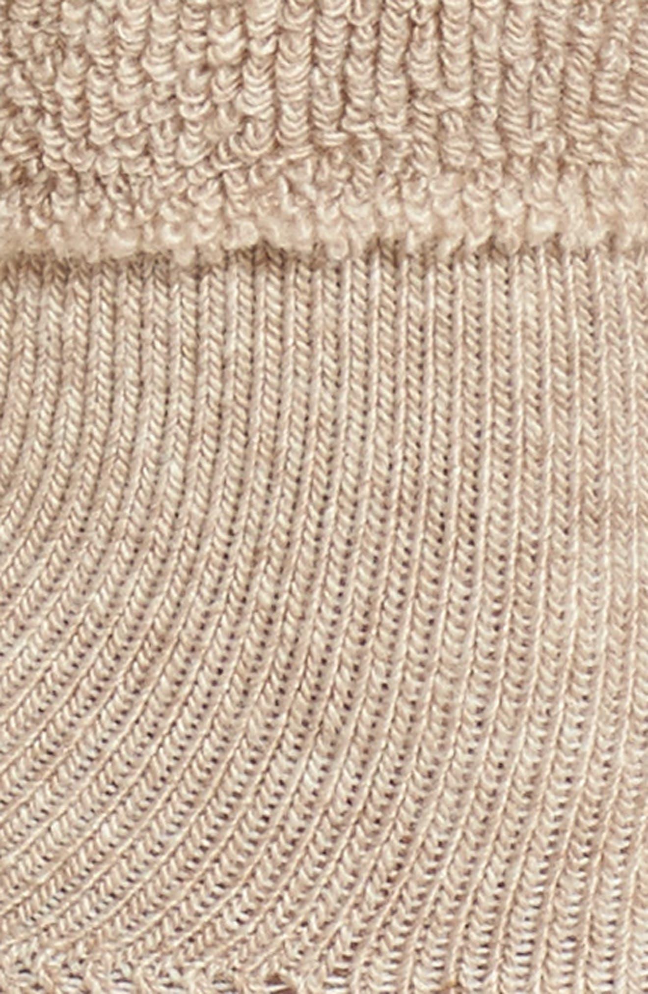 Tip Toe Bora Shootie Socks,                             Alternate thumbnail 2, color,                             Cappuccino