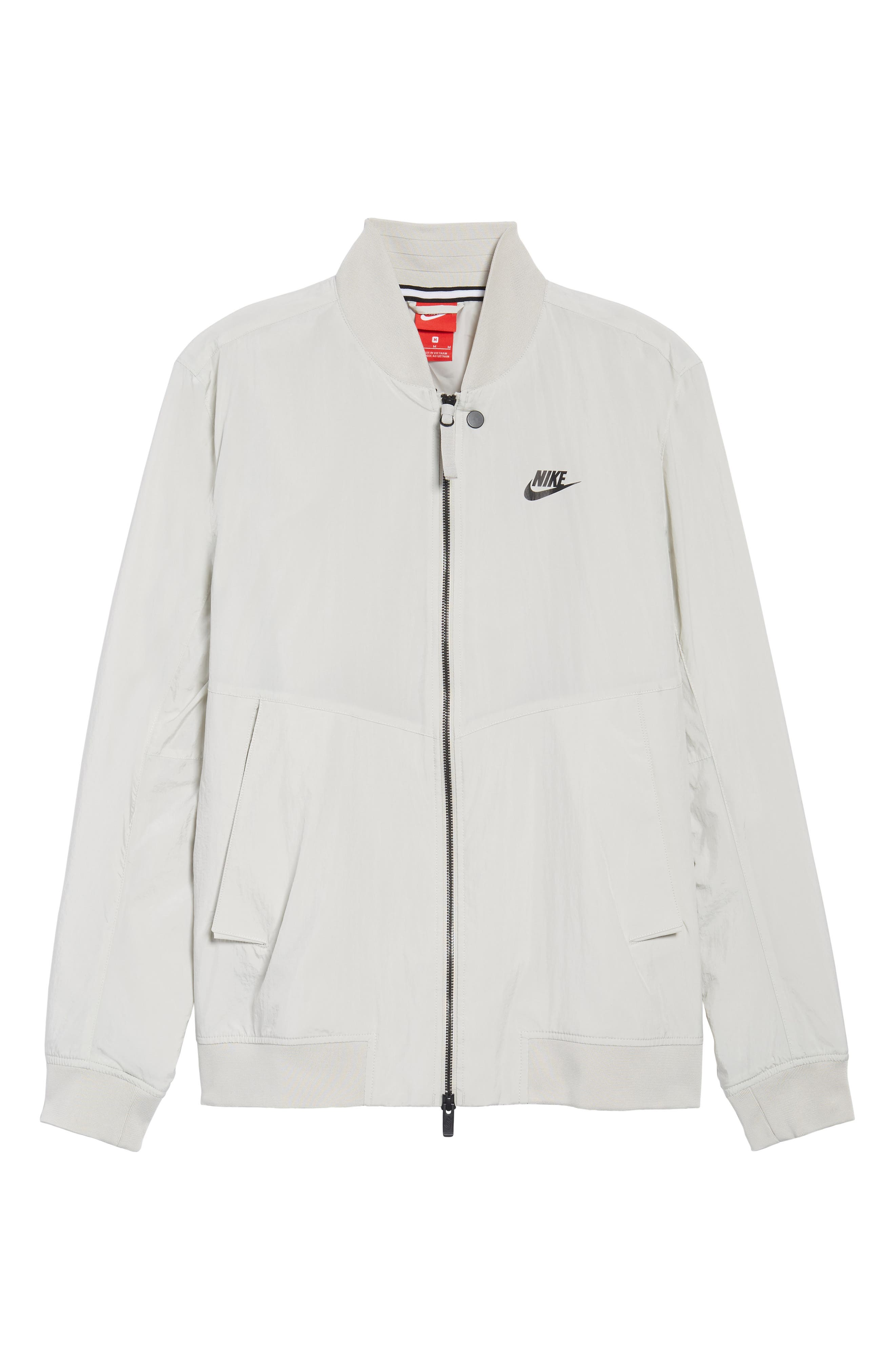 NSW Franchise Varsity Jacket,                             Alternate thumbnail 6, color,                             Light Bone/ Light Bone/ Black
