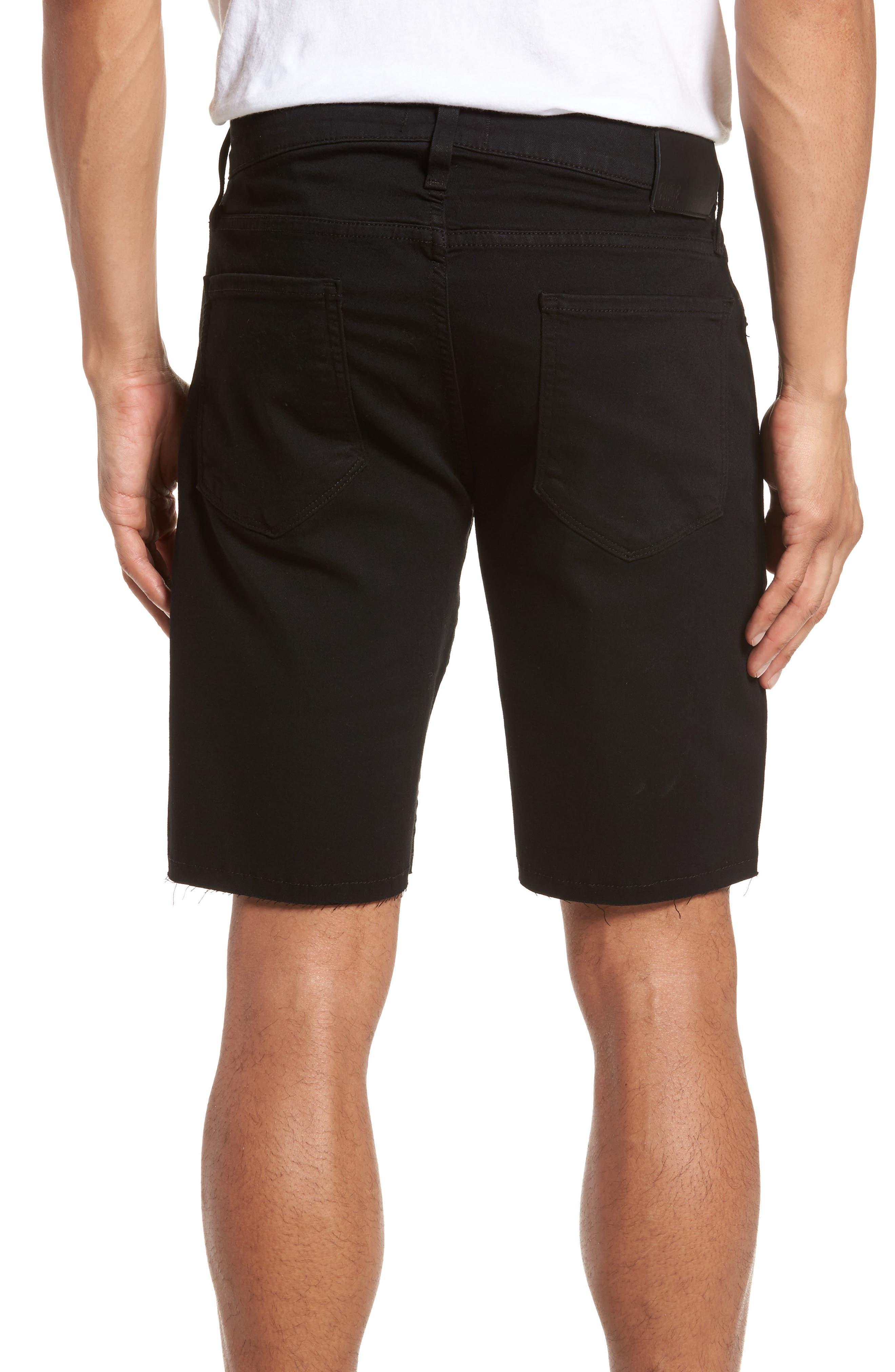 Alternate Image 2  - PAIGE Transcend - Federal Slim Straight Leg Denim Shorts (Black Shadow)