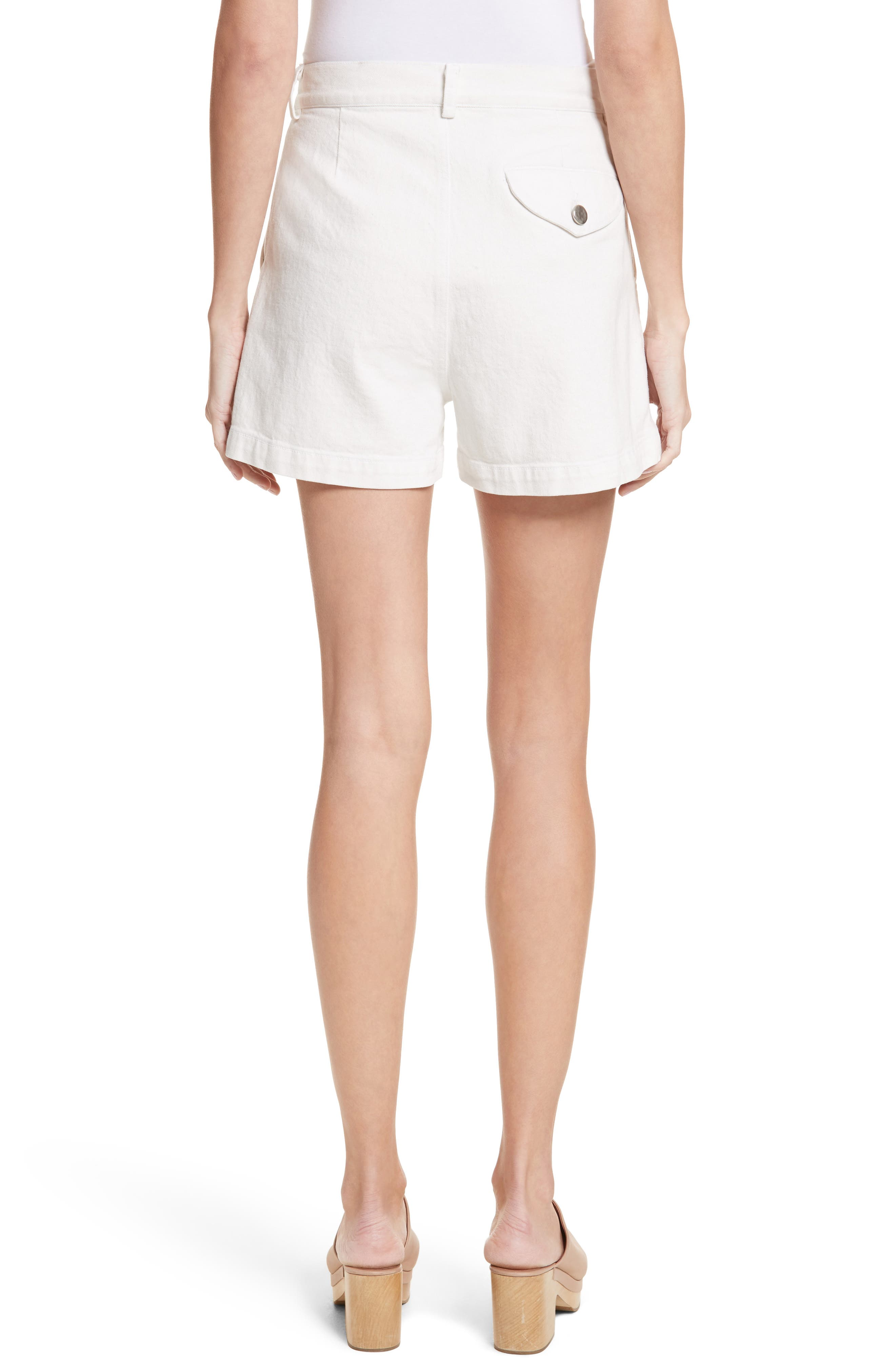 Daft Denim Shorts,                             Alternate thumbnail 2, color,                             Dirty White