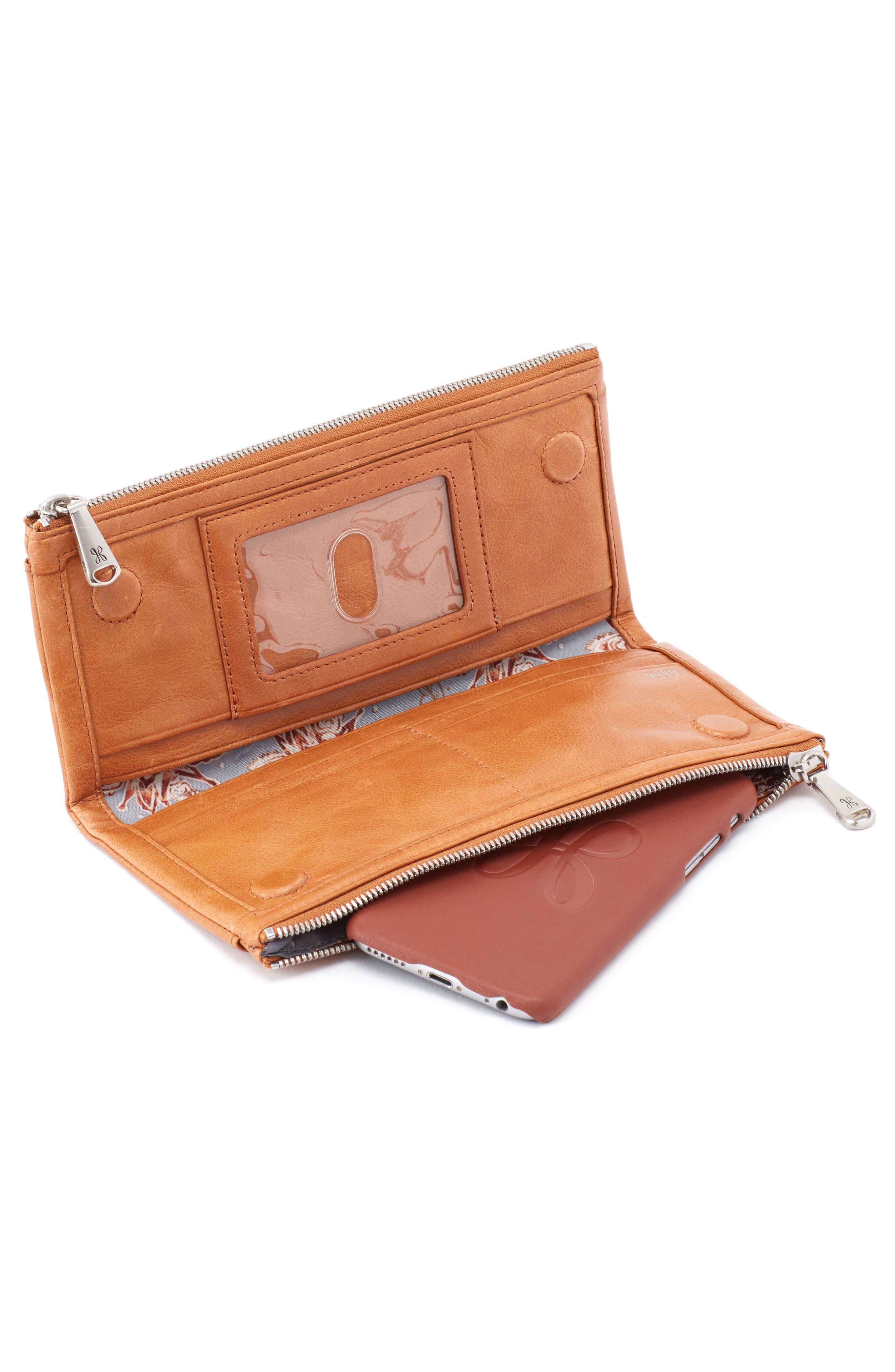 Alternate Image 2  - Hobo 'Taylor' Glazed Leather Wallet