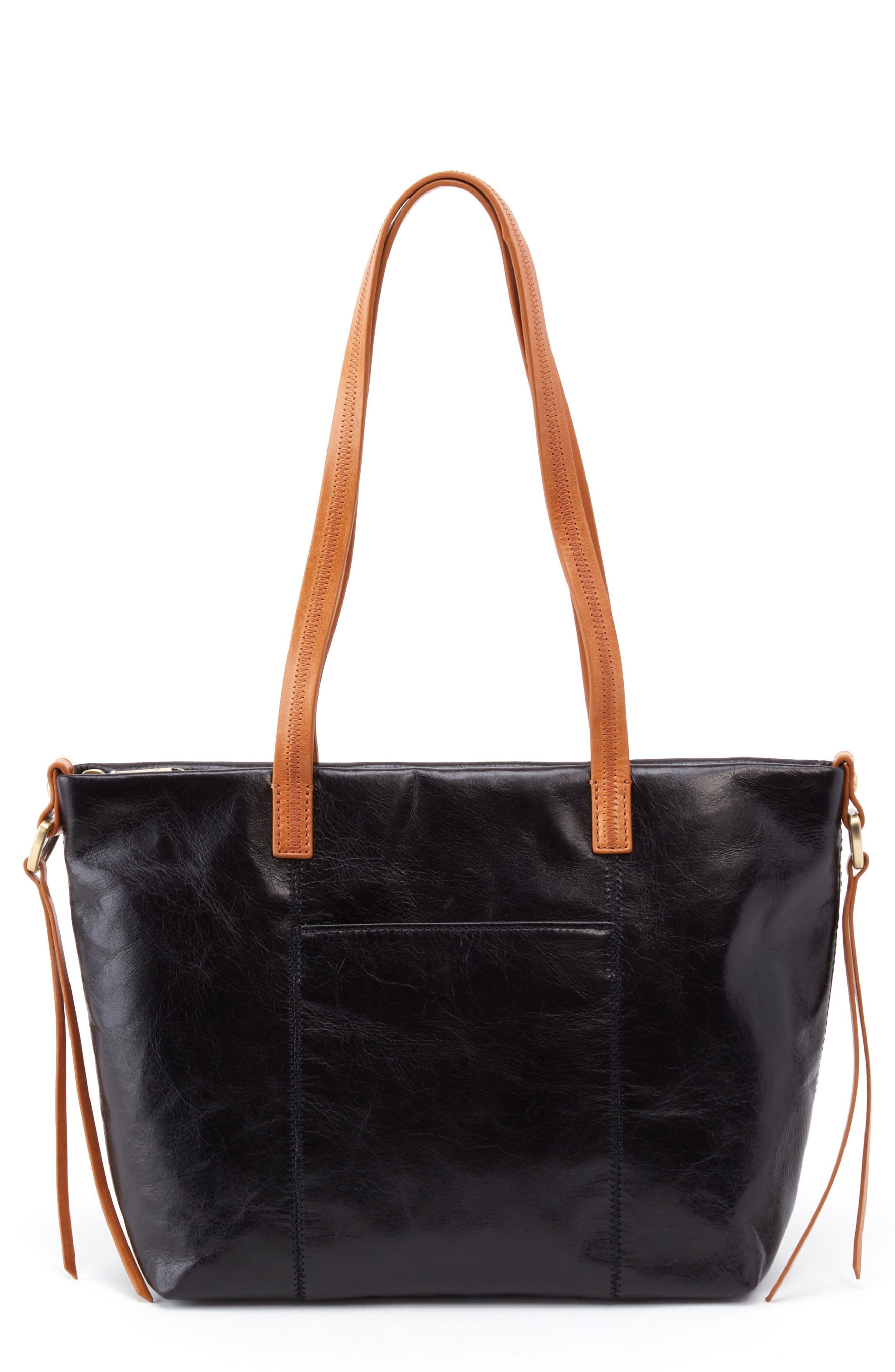 Cecily Leather Tote,                         Main,                         color, Black