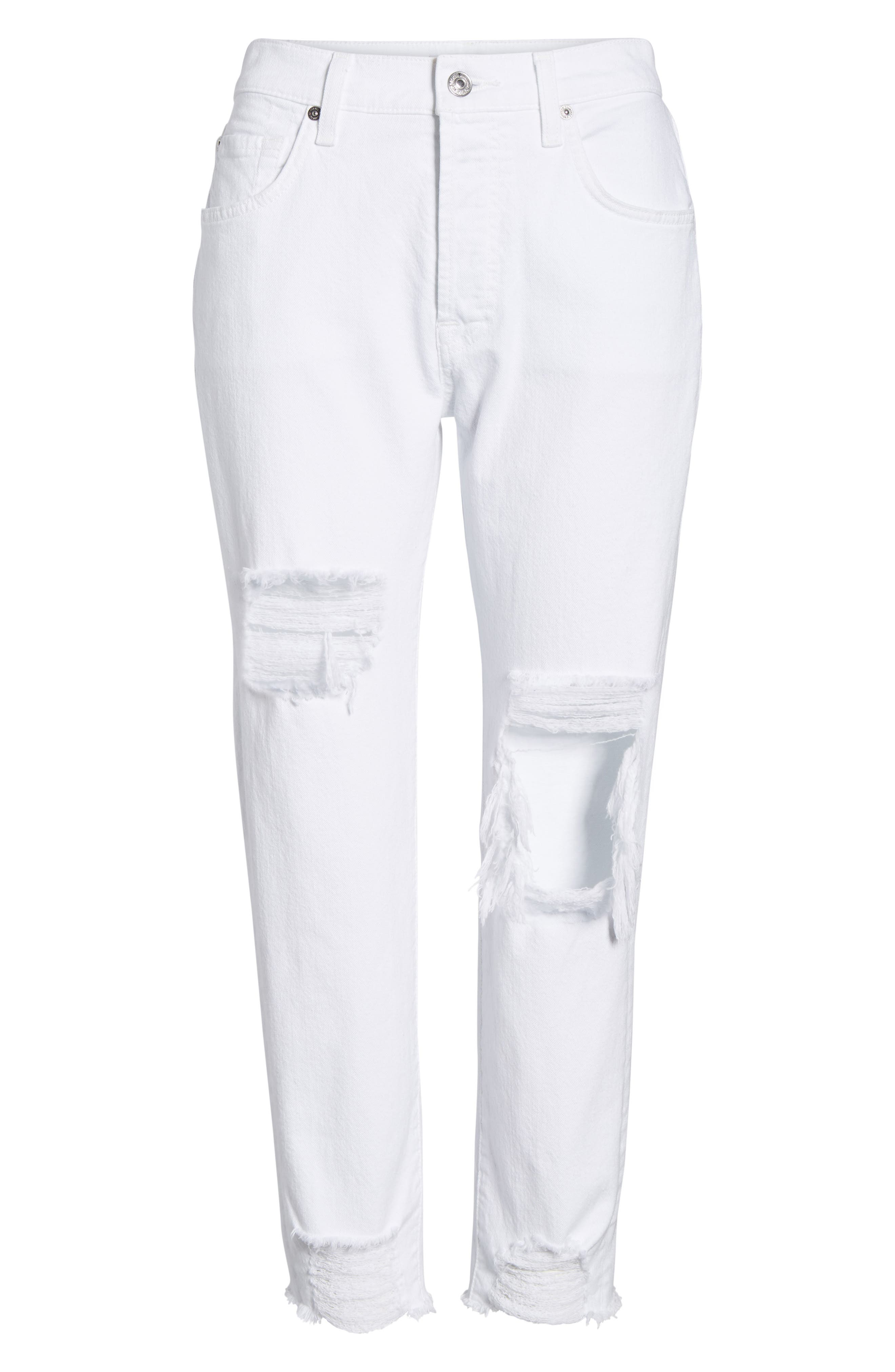 Josefina High Waist Boyfriend Jeans,                             Alternate thumbnail 7, color,                             White Fashion 2