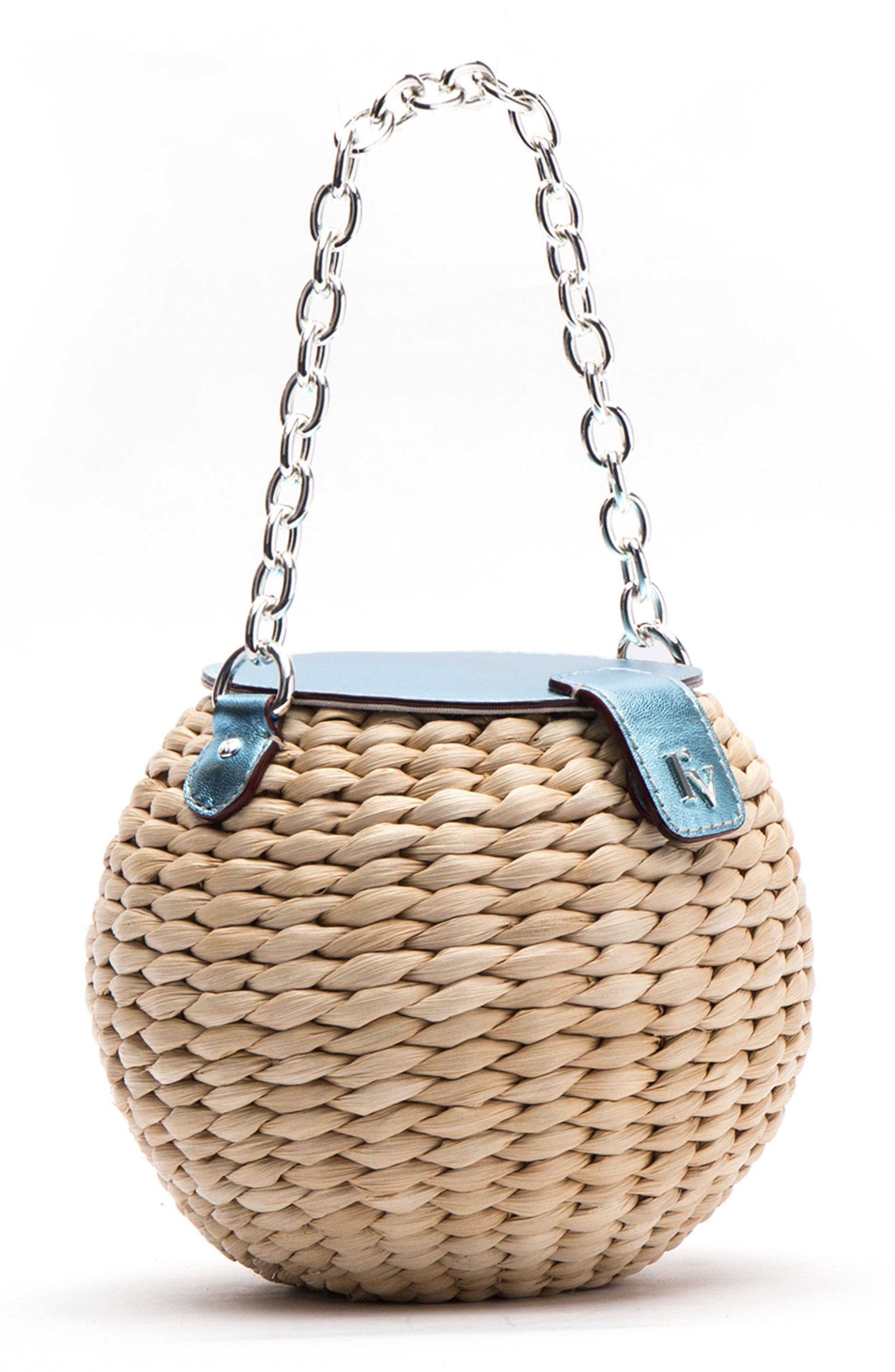 Alternate Image 2  - Frances Valentine Mini Straw Bucket Bag