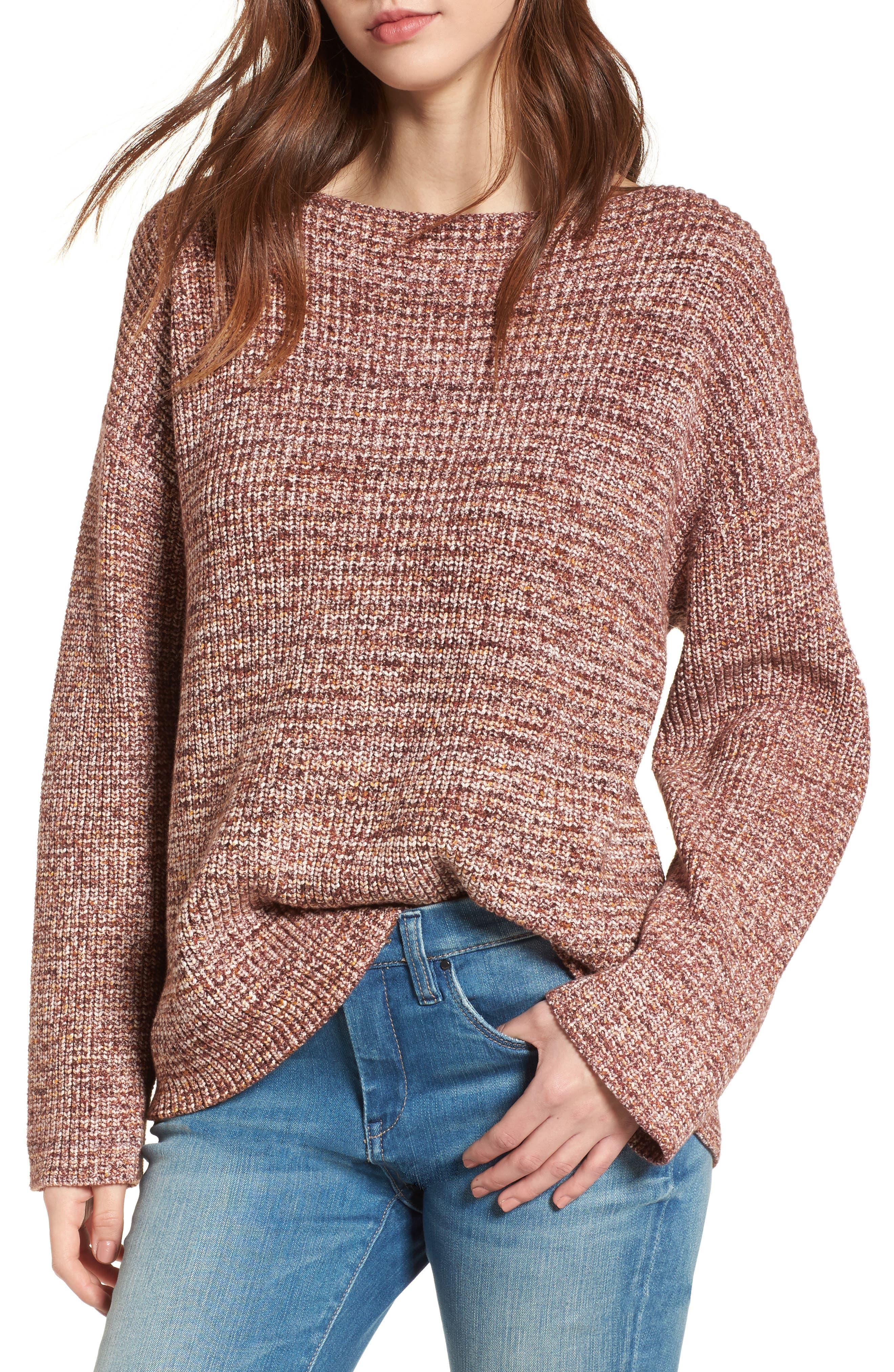 BLANKNYC Flap Back Sweater