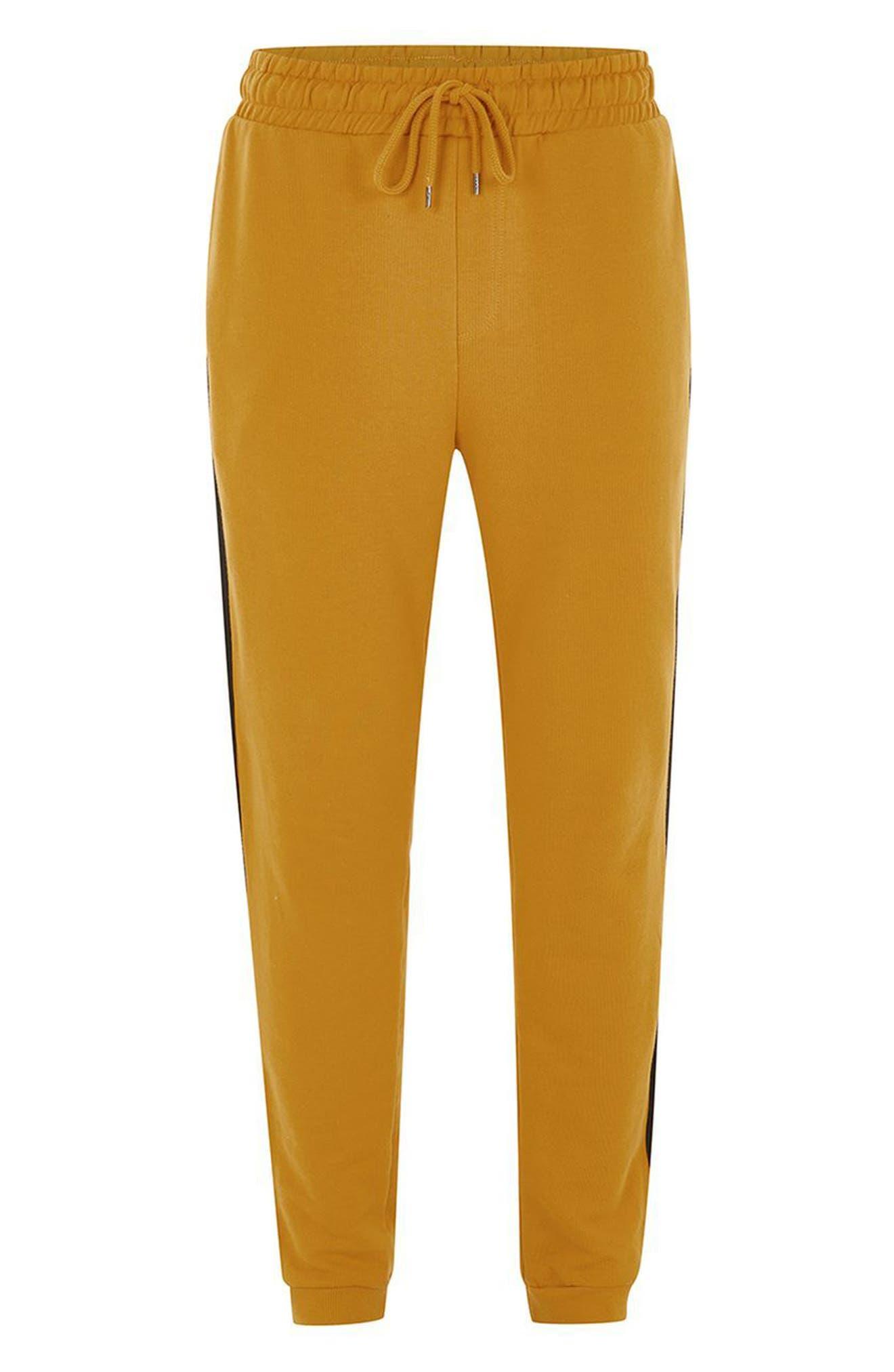 Side Tape Classic Fit Jogger Pants,                             Alternate thumbnail 4, color,                             Yellow Multi