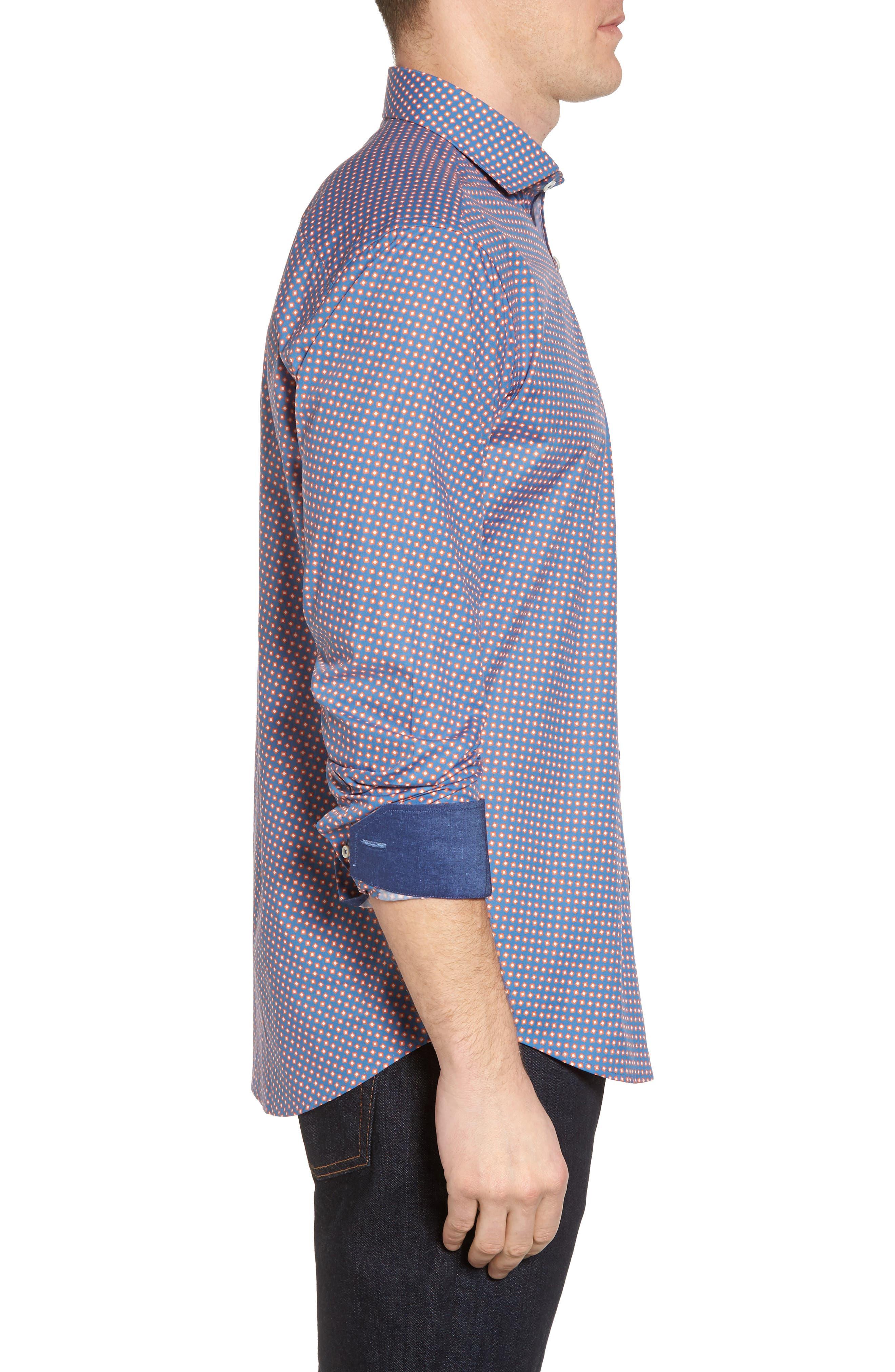 Alternate Image 3  - Bugatchi Slim Fit Print Sport Shirt