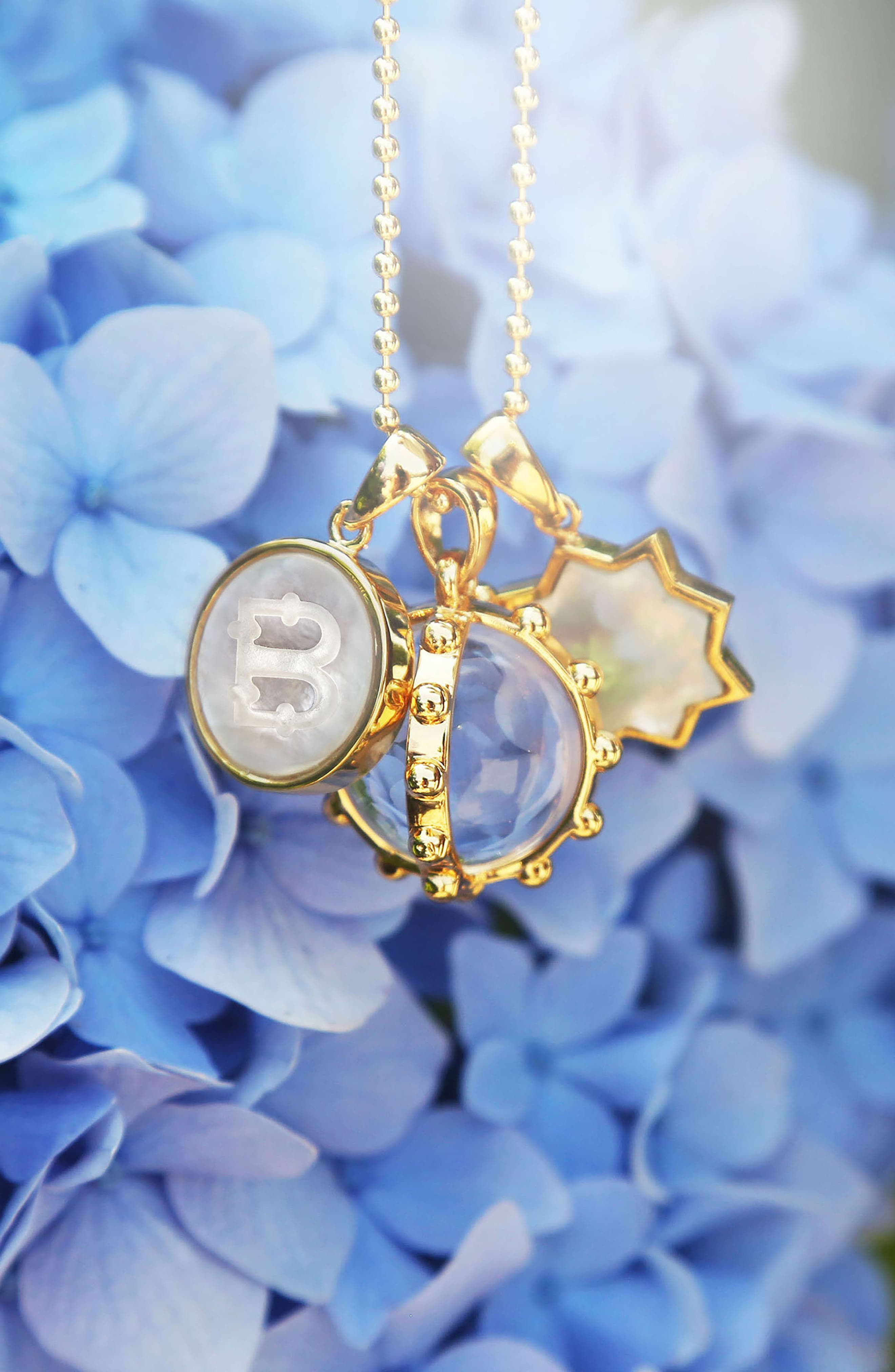 Alternate Image 2  - ASHA Mother-of Pearl Initial Charm