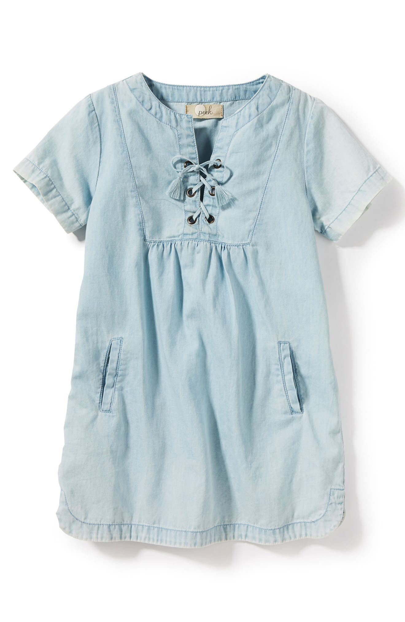 Malibu Chambray Dress,                             Main thumbnail 1, color,                             Bleach