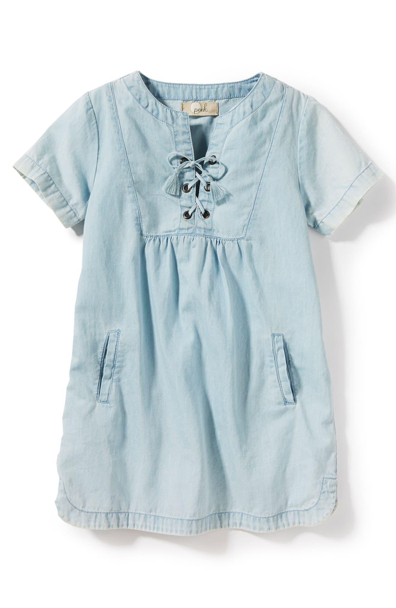 Malibu Chambray Dress,                         Main,                         color, Bleach