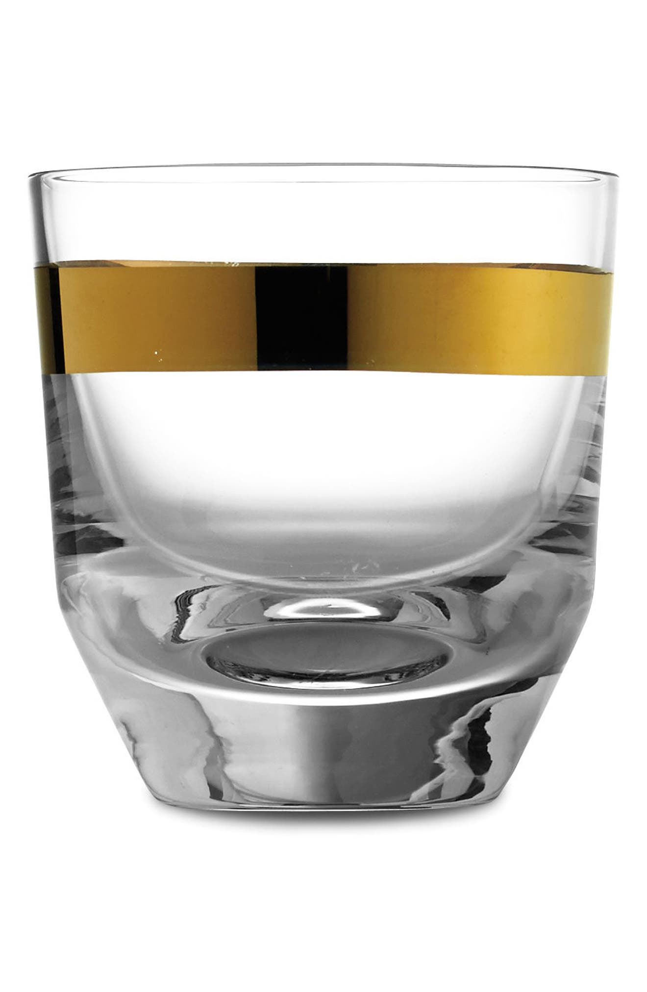 Semplice Double Old Fashioned Glass,                             Main thumbnail 1, color,                             Gold
