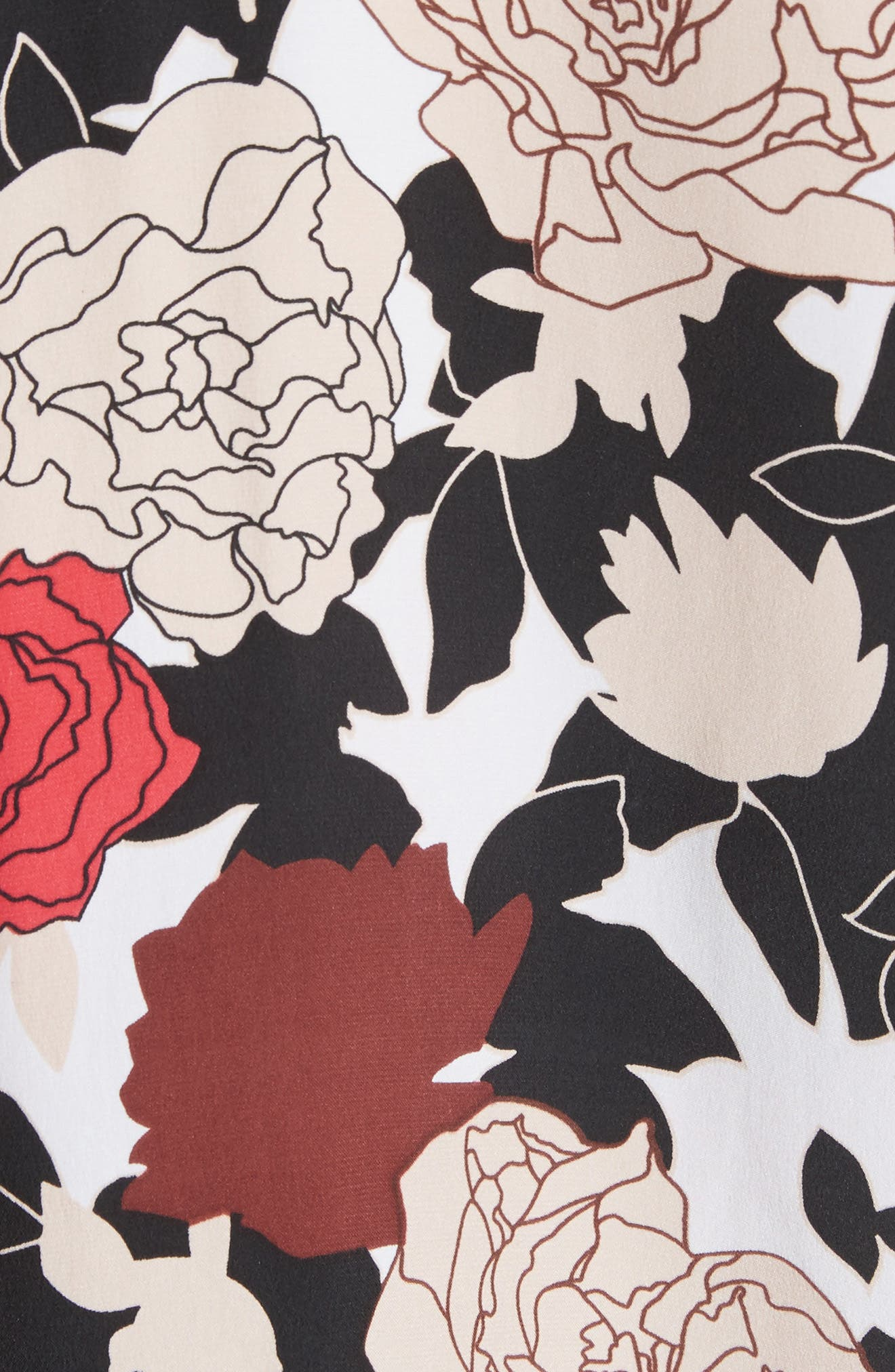 Daphne Floral Silk Shirt,                             Alternate thumbnail 5, color,                             Bright White Multi