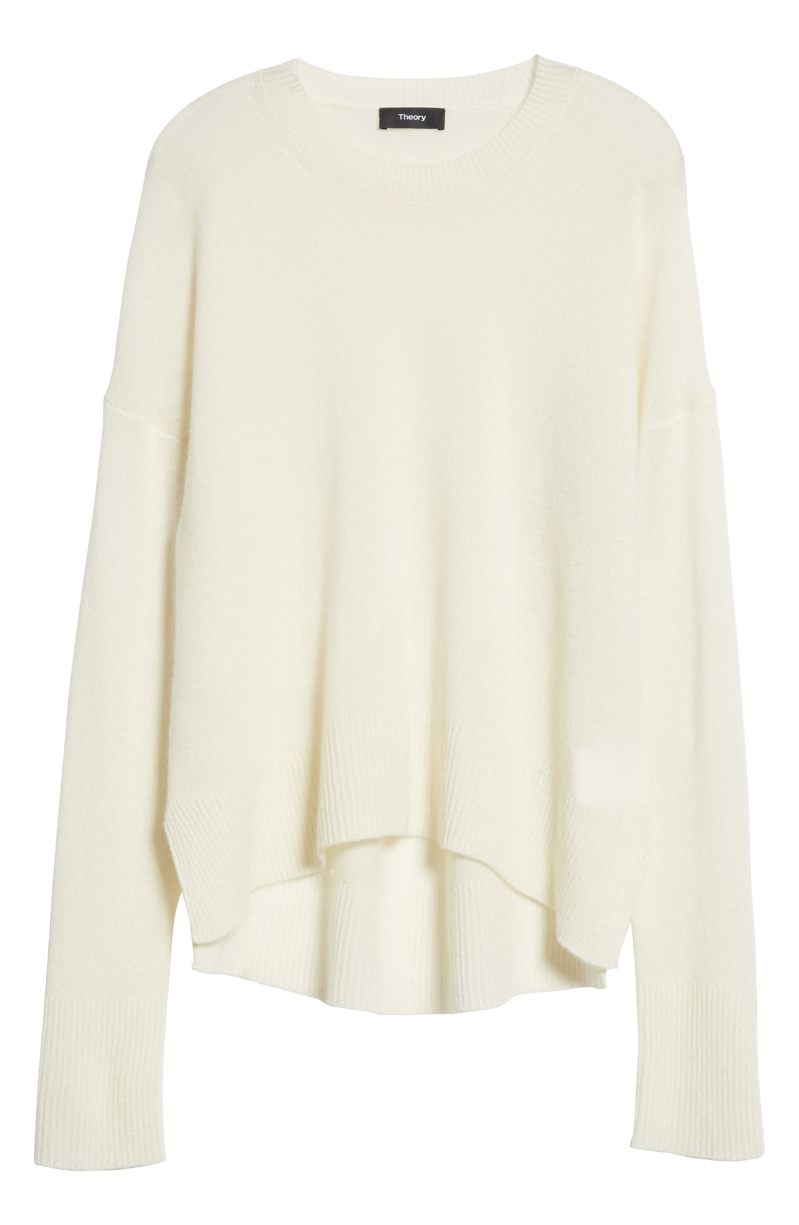 Karenia L Cashmere Sweater,                             Alternate thumbnail 6, color,                             Ivory