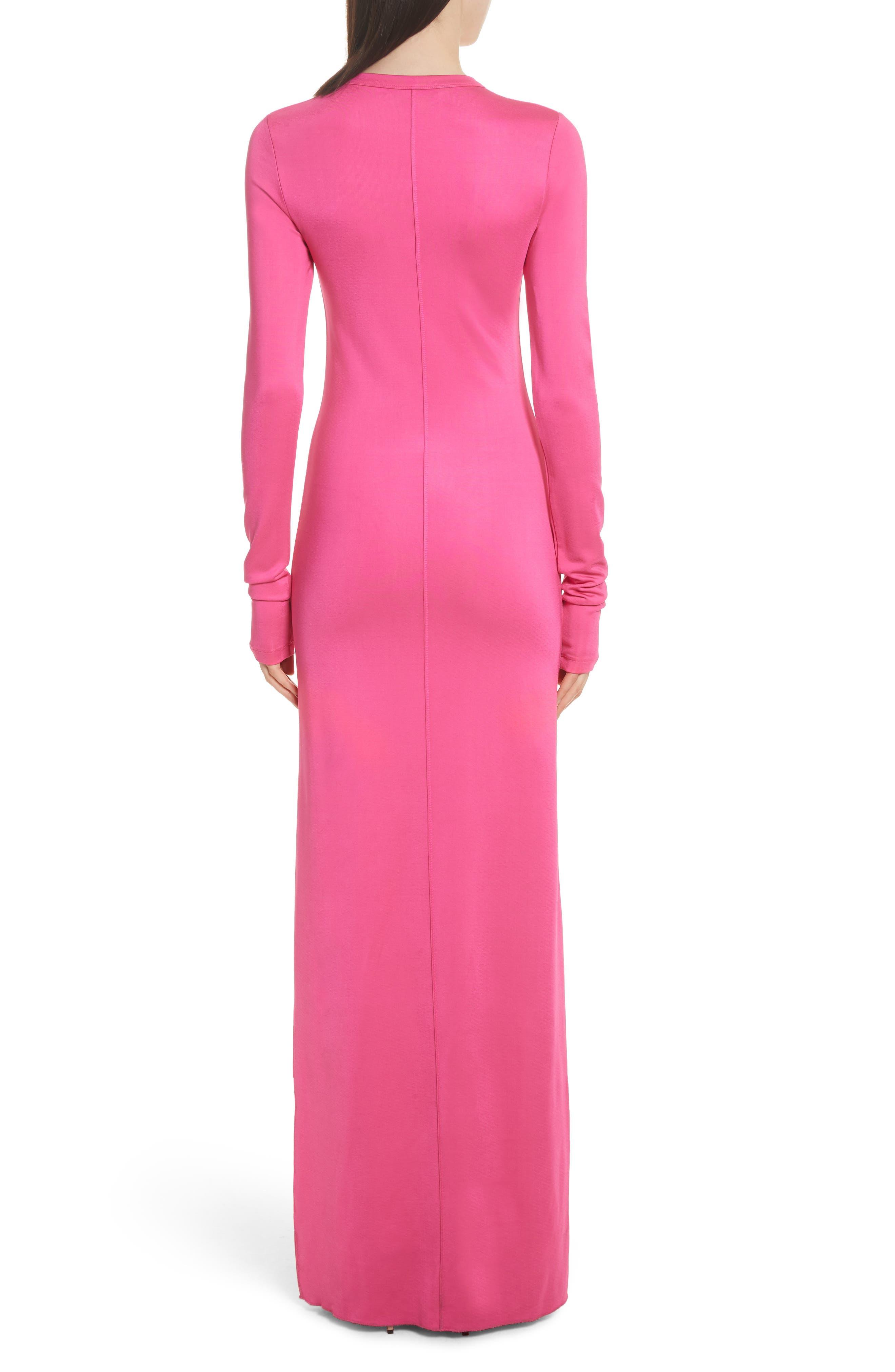Fallon Slit Skirt Jersey Maxi Dress,                             Alternate thumbnail 3, color,                             Flamingo