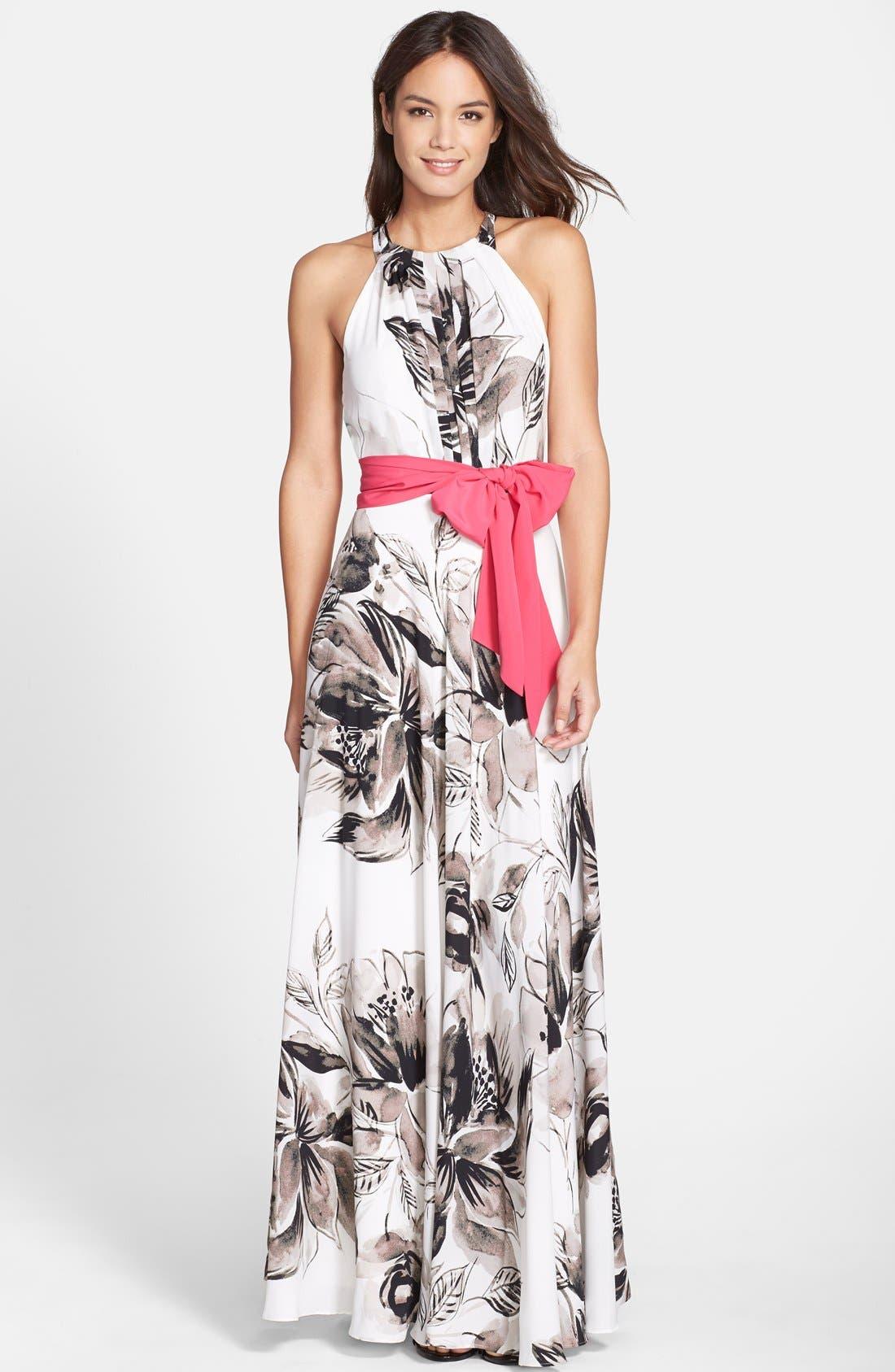 Eliza J Chiffon Maxi Dress   Nordstrom